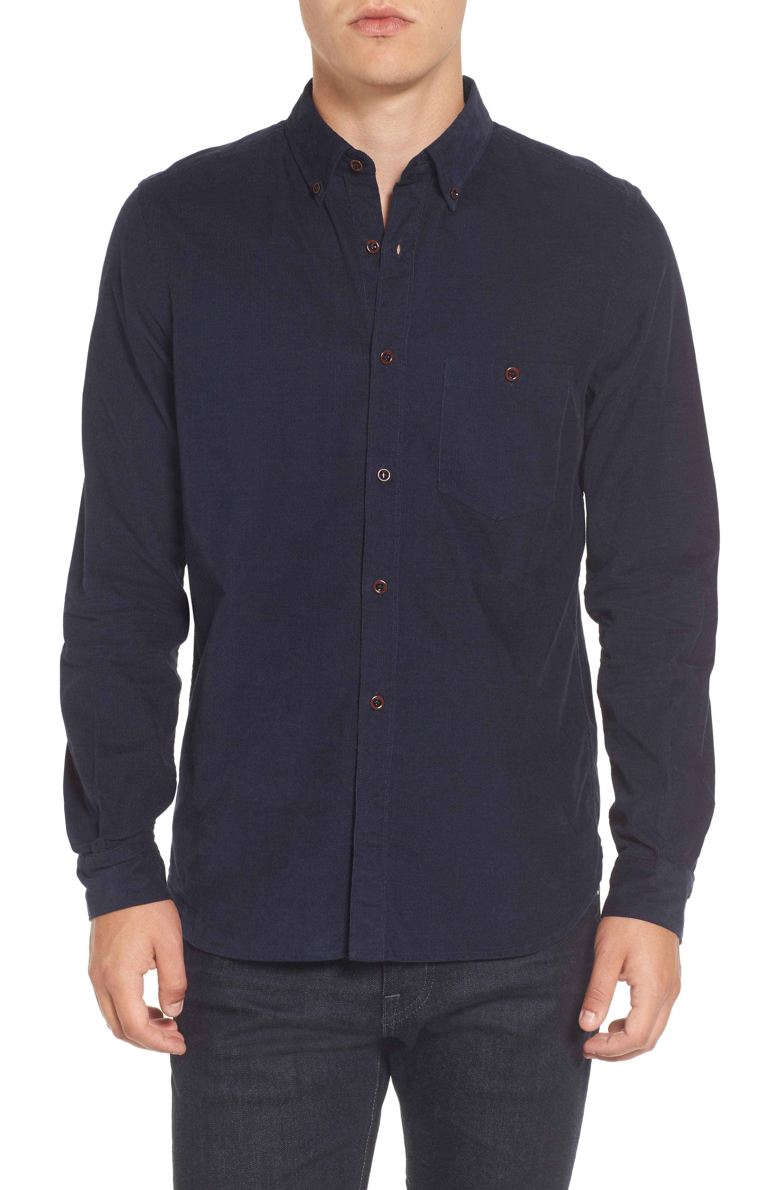 Alternate Image 1 Selected - French Connection Corduroy Sport Shirt