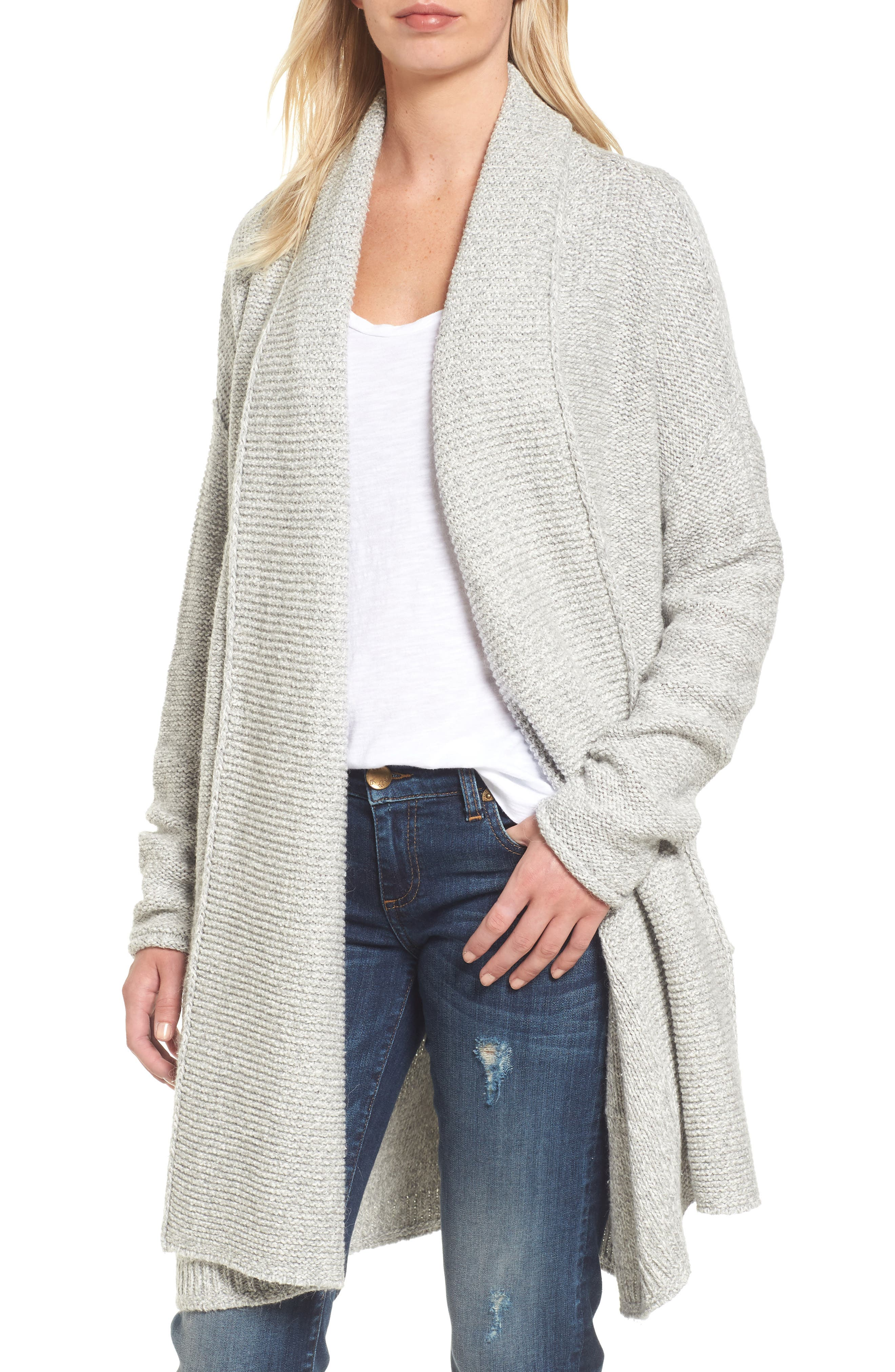 Caslon® Shawl Collar Cardigan (Regular & Petite)