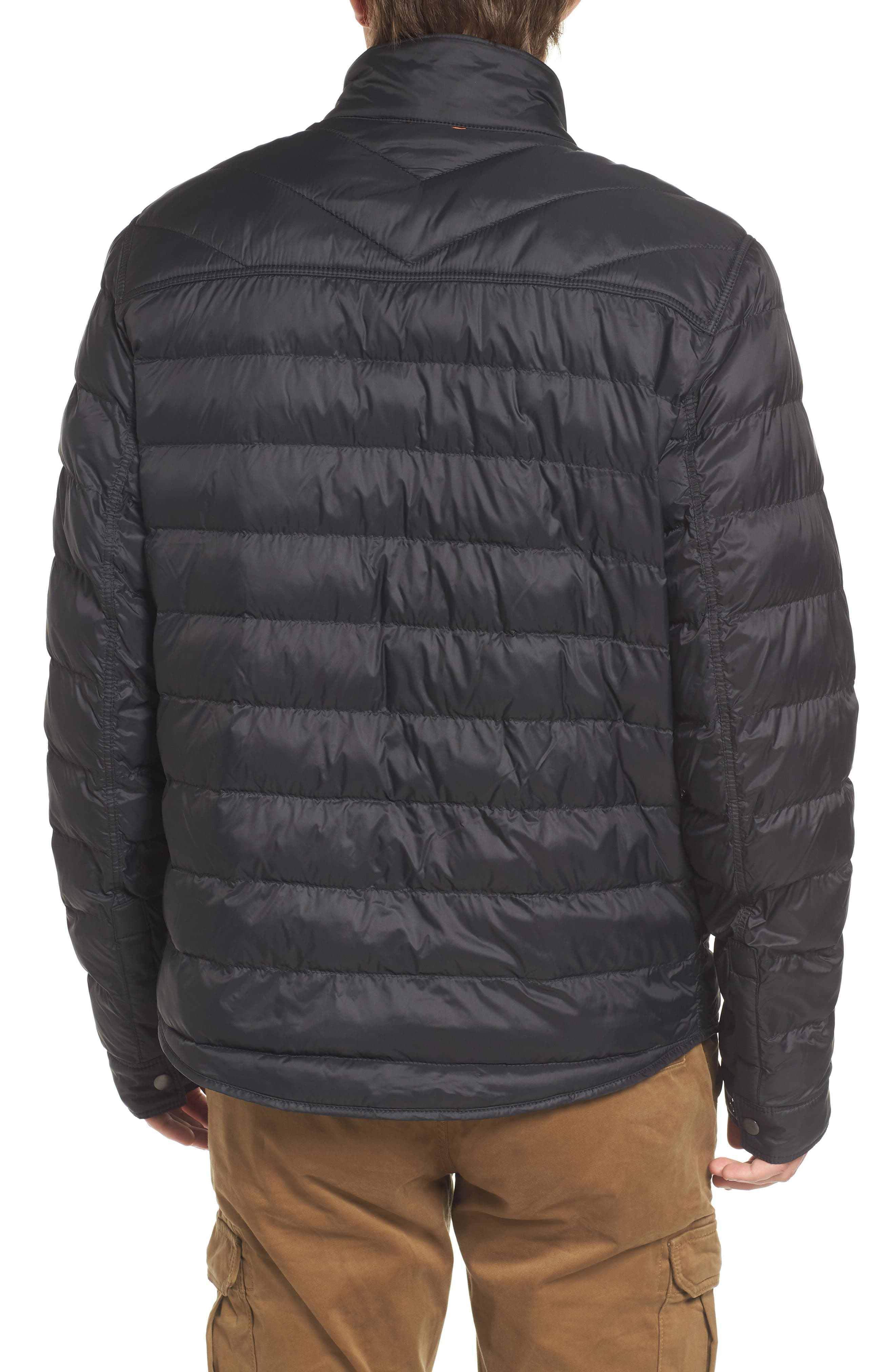 Orin Water Repellent Quilted Jacket,                             Alternate thumbnail 2, color,                             Black