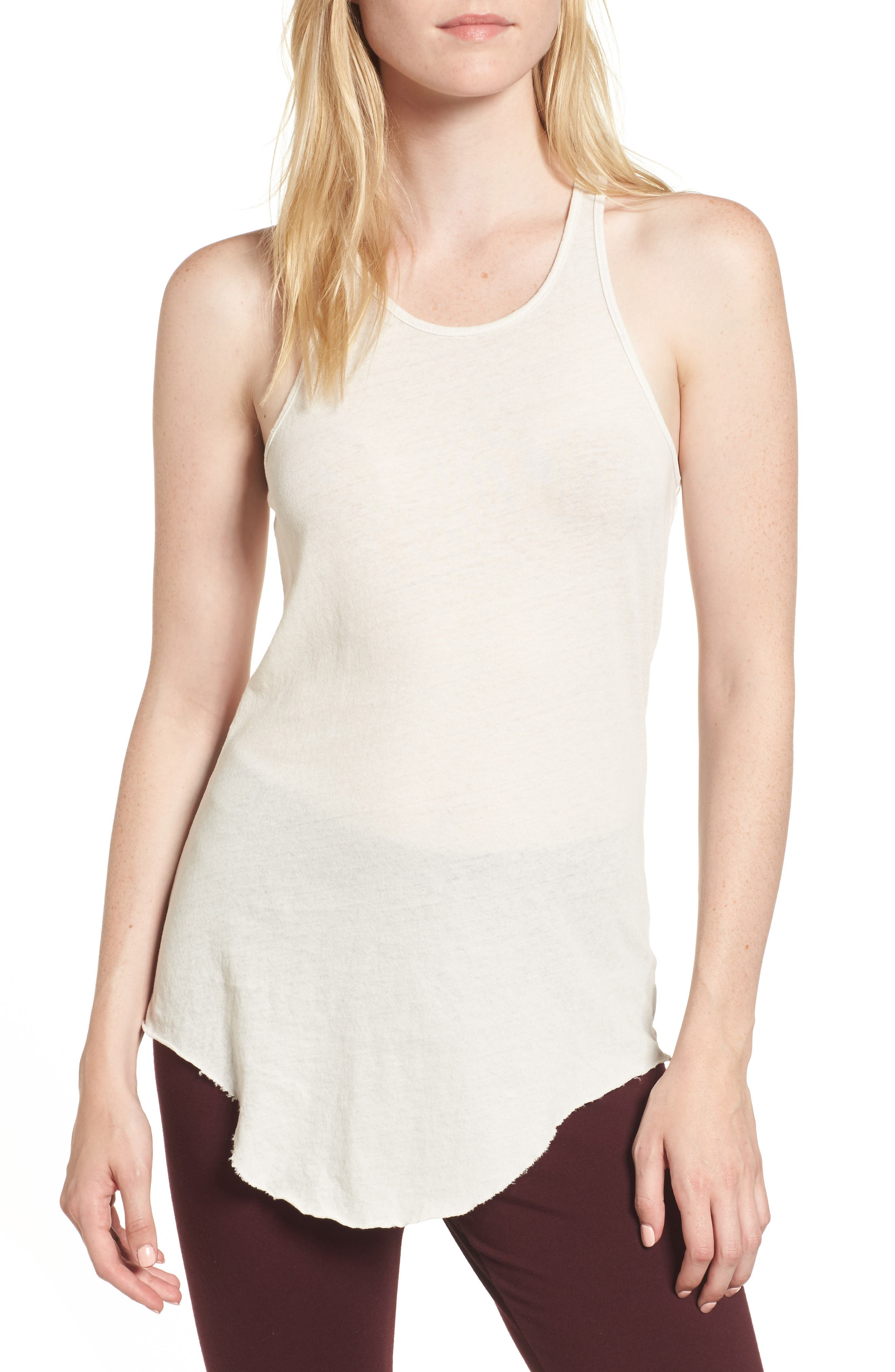 Long Layering Tank,                         Main,                         color, Vintage White