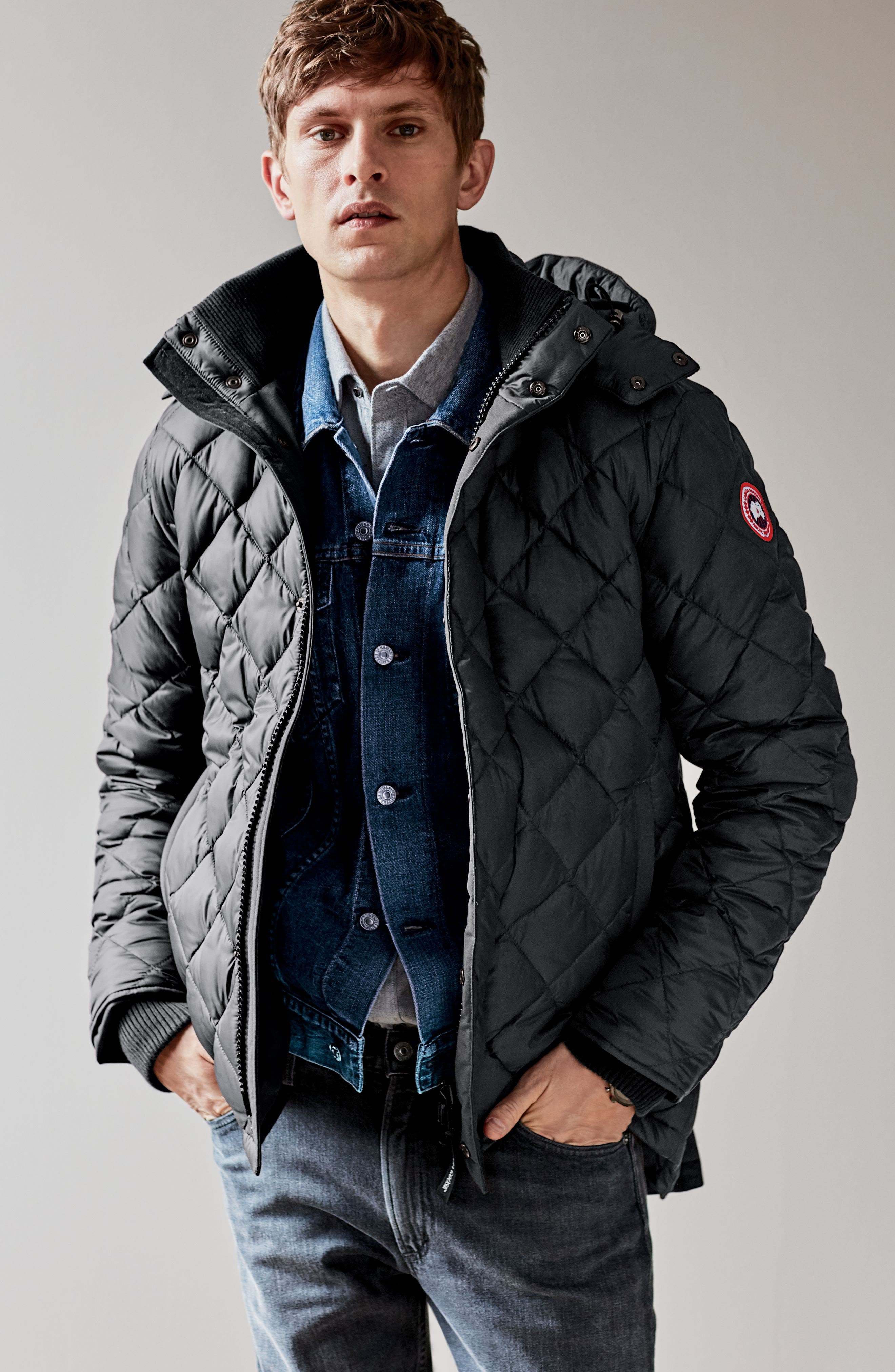 Hendriksen Quilted Down Coat,                             Alternate thumbnail 6, color,