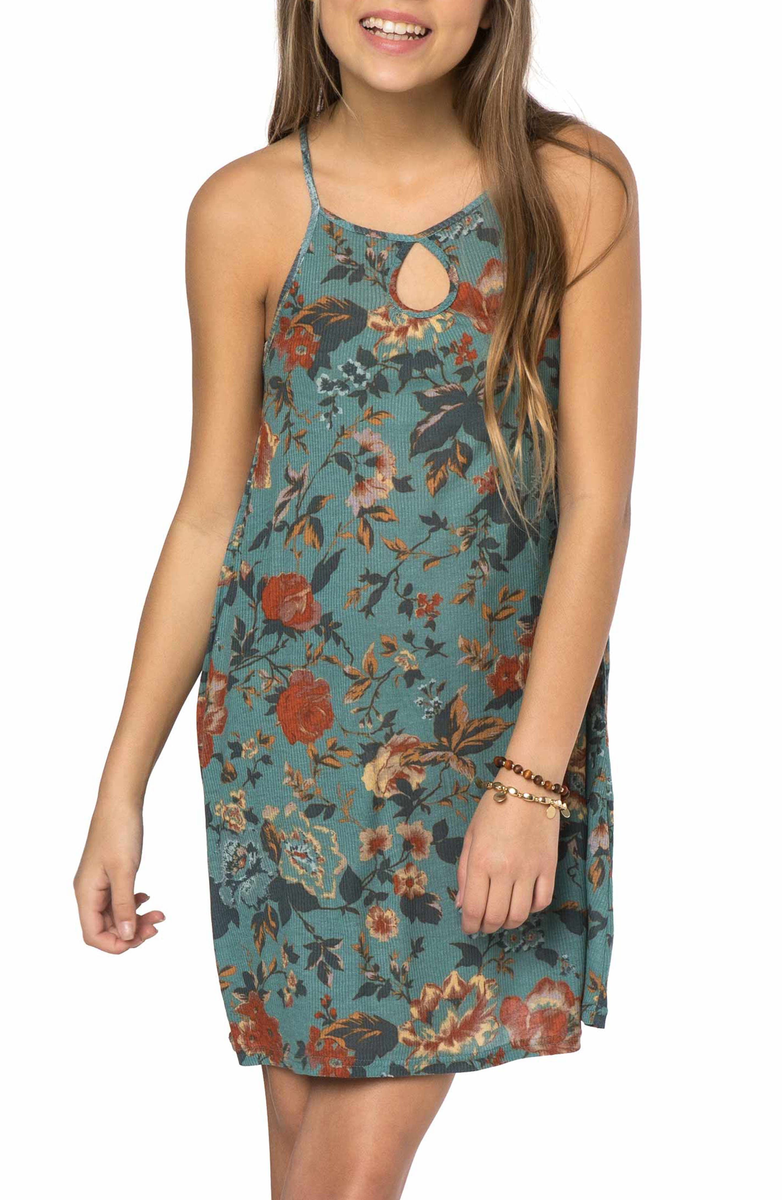 Devy Rib Knit Tank Dress,                         Main,                         color, Trellis