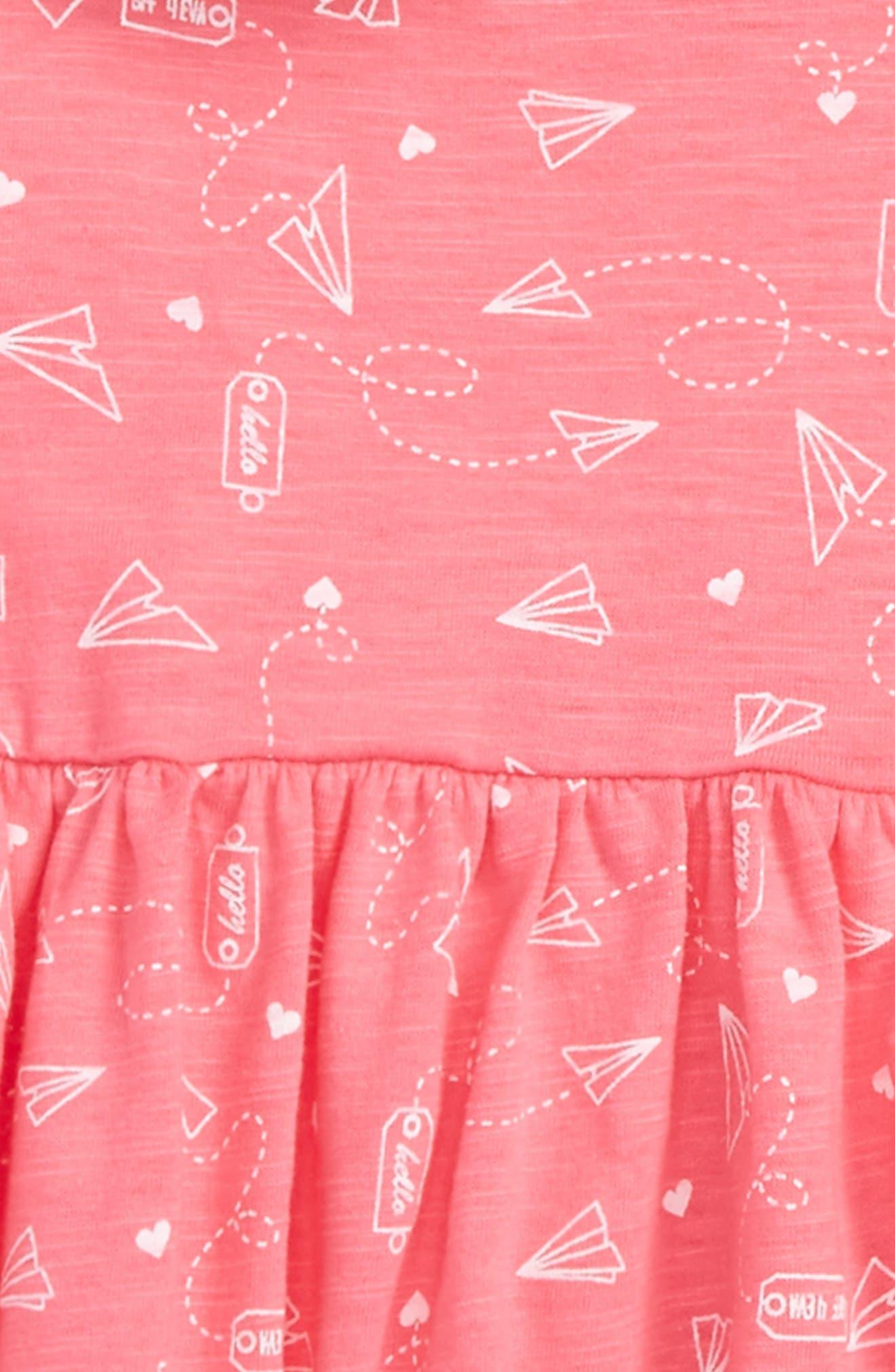 Alternate Image 2  - Rosie Pope Airplane Notes Print Dress & Faux Fur Vest Set (Baby Girls)