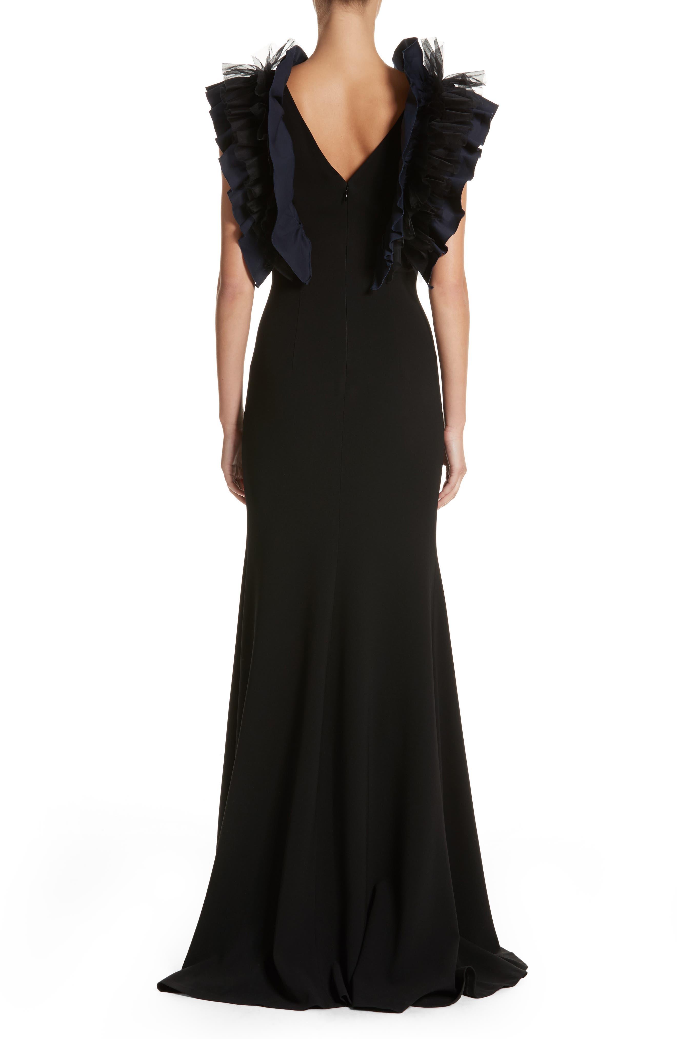 Alternate Image 2  - Sachin & Babi Noir Organza Ruffle Gown
