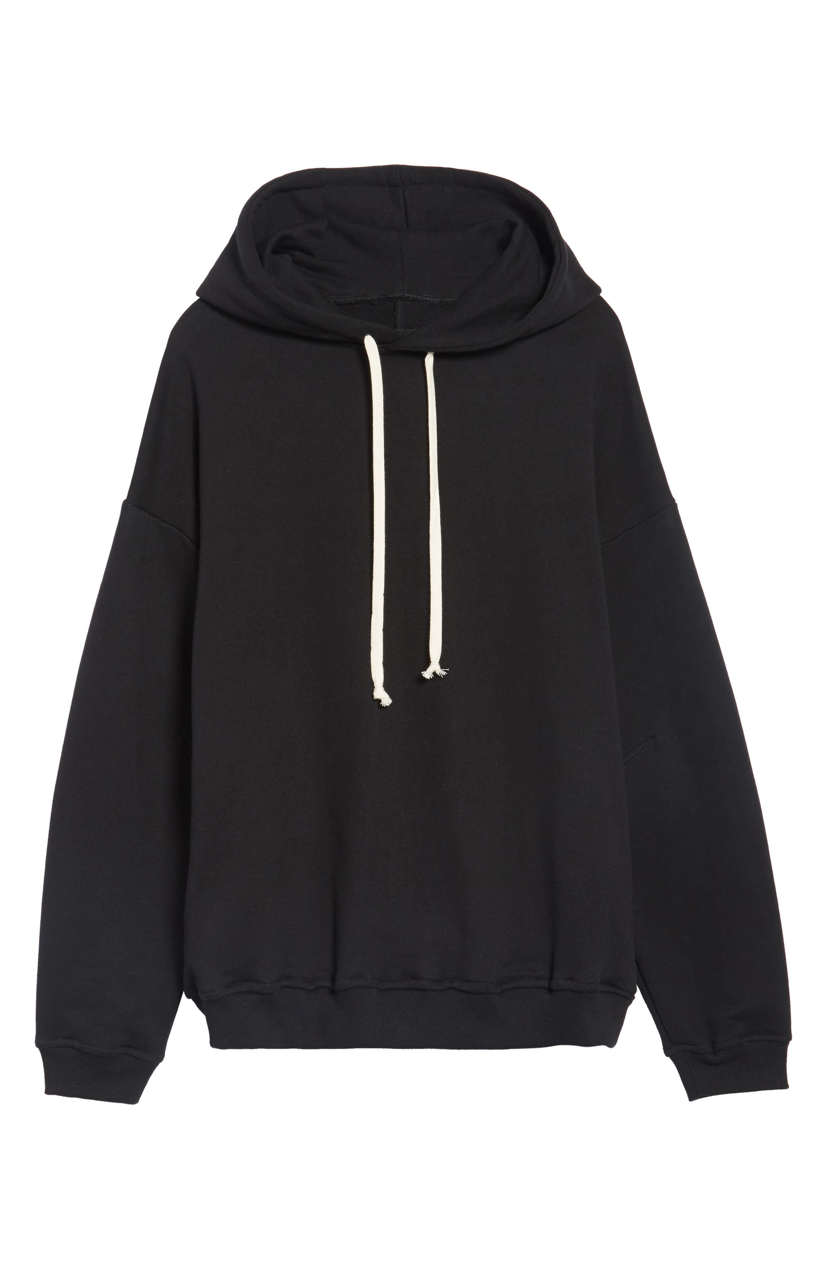 Relaxed Fit Hoodie,                             Alternate thumbnail 5, color,                             Black