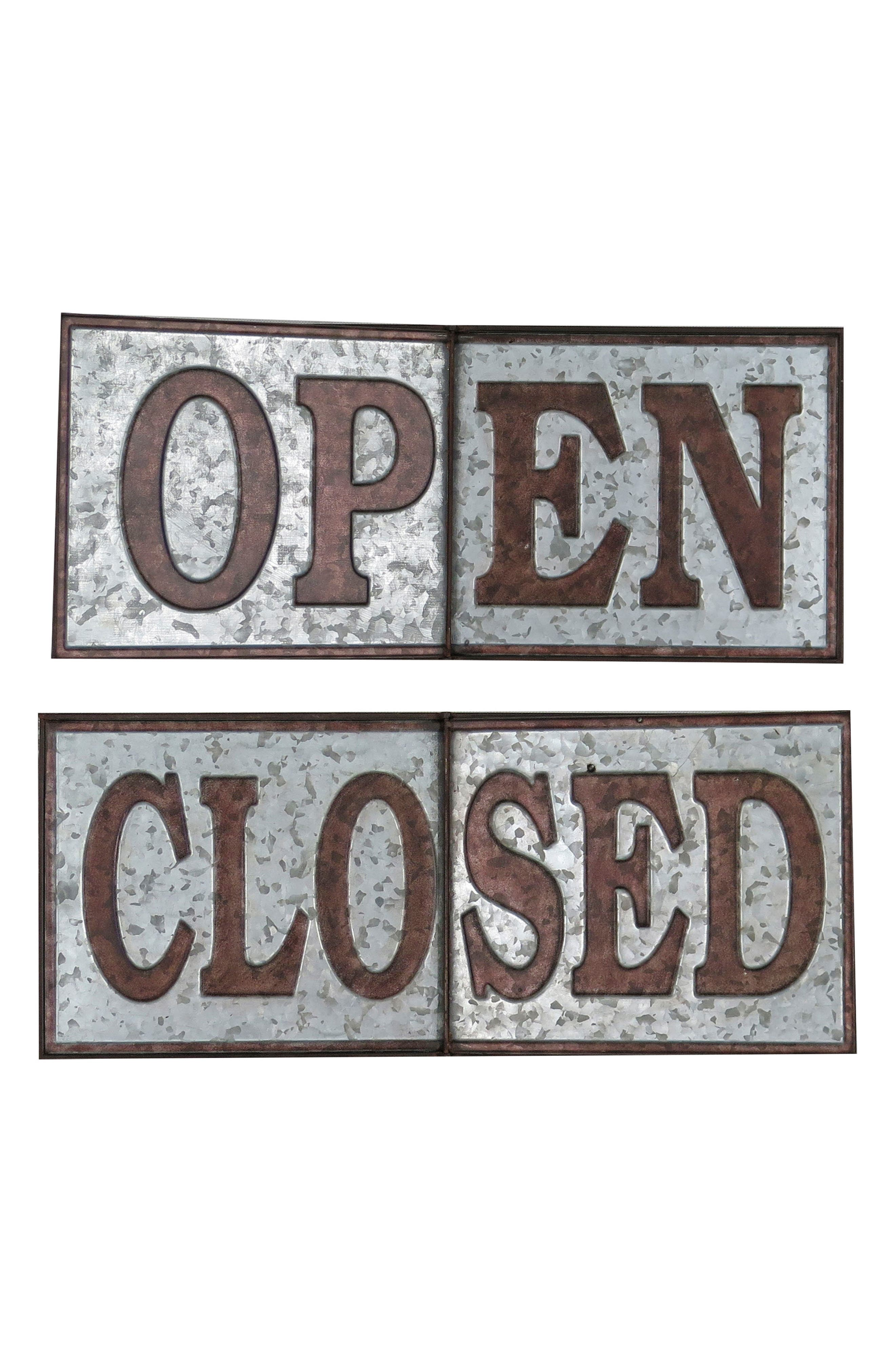Open/Closed Sign,                             Main thumbnail 1, color,                             Metal