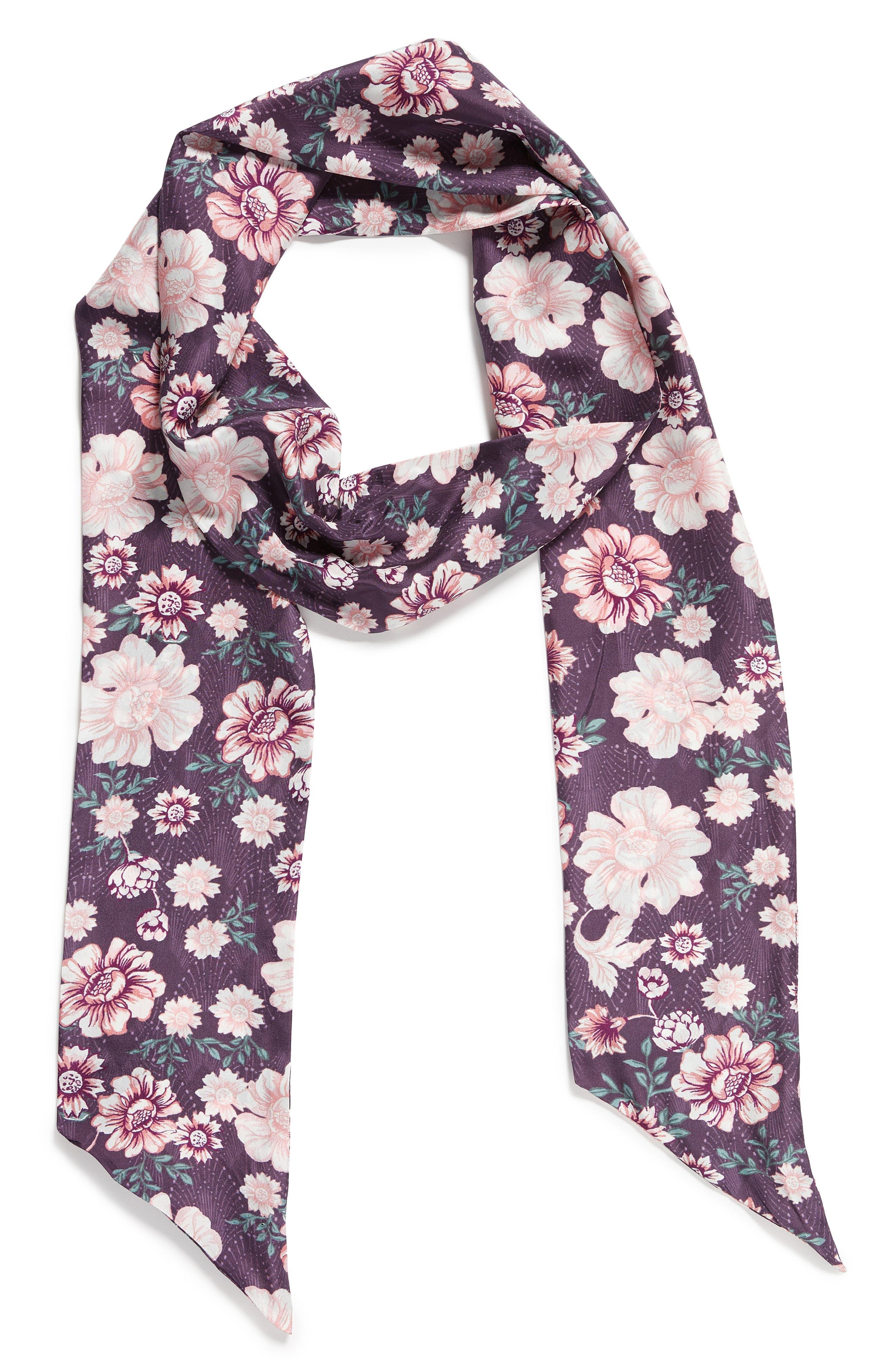 Alternate Image 3  - Treasure & Bond Mirrored Floral Silk Skinny Scarf