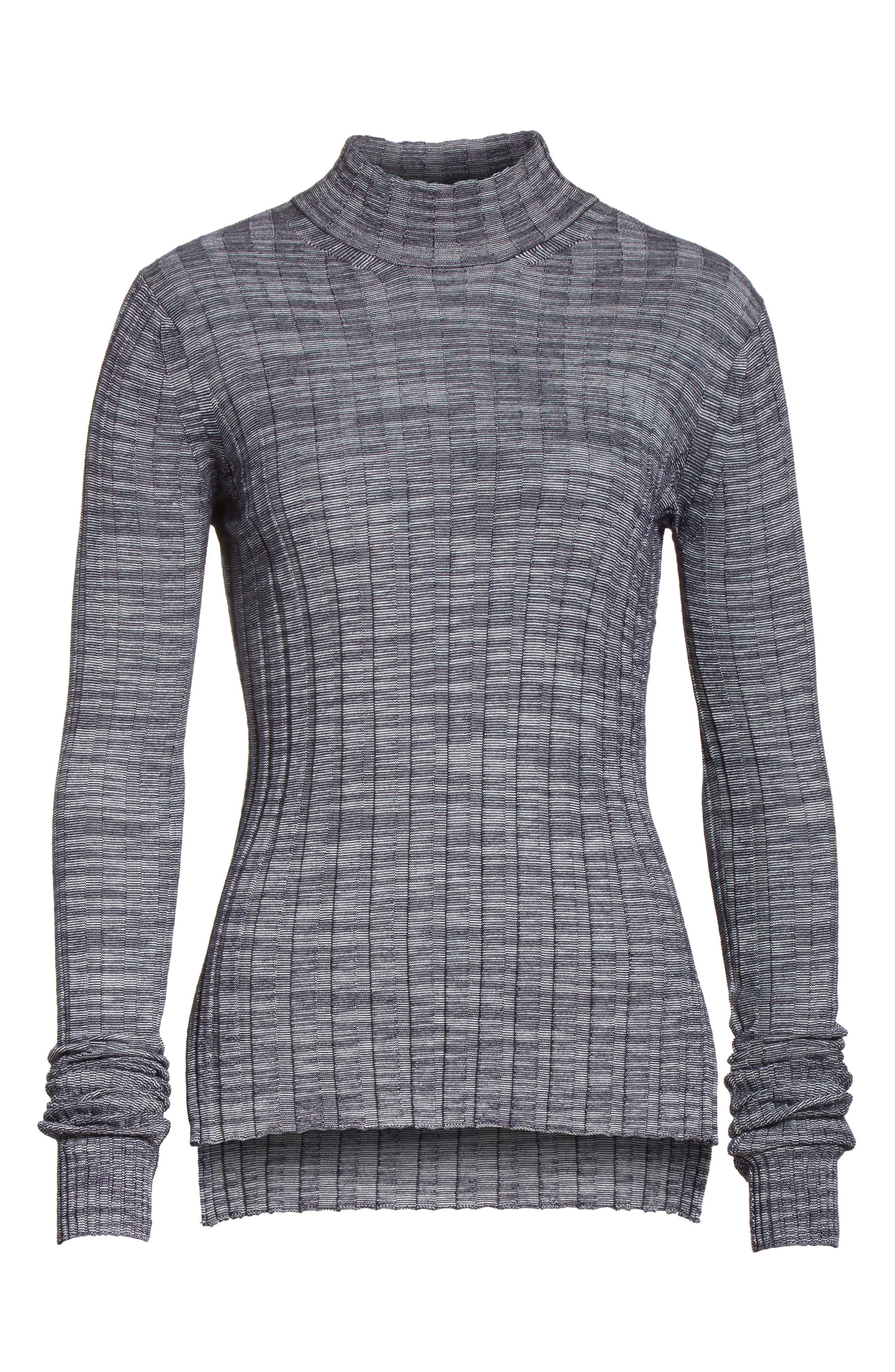 Alternate Image 6  - Theory Wide Ribbed Metallic Merino Wool Sweater