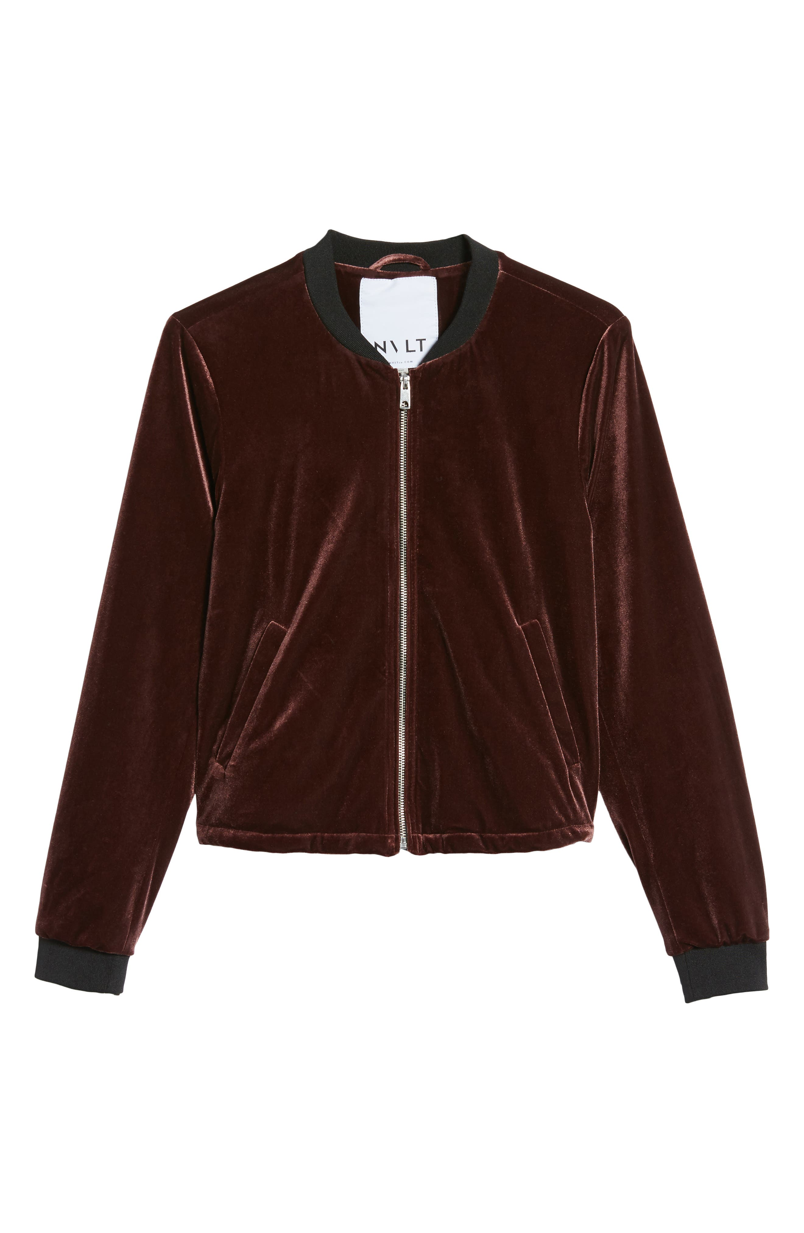 Alternate Image 6  - NVLT Velvet Bomber Jacket
