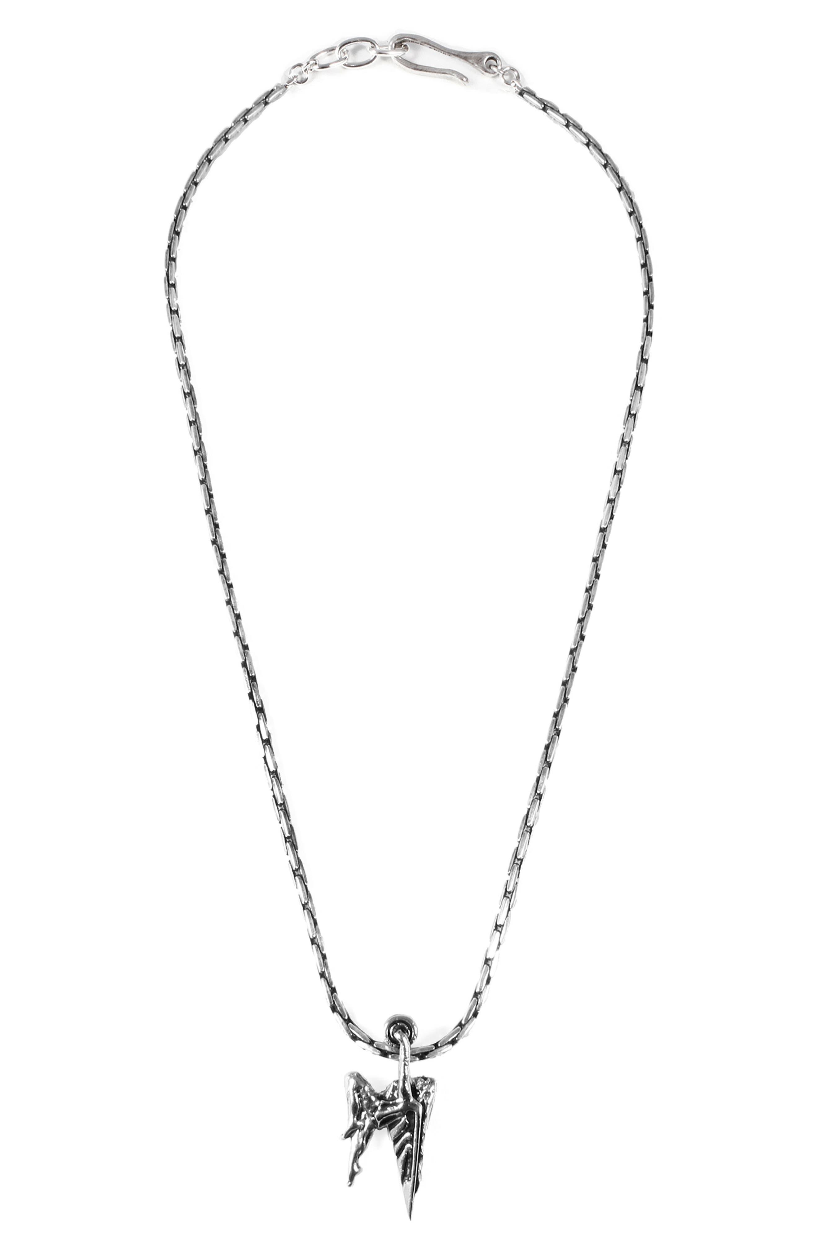 Pursuit Necklace,                             Main thumbnail 1, color,                             Antique Silver