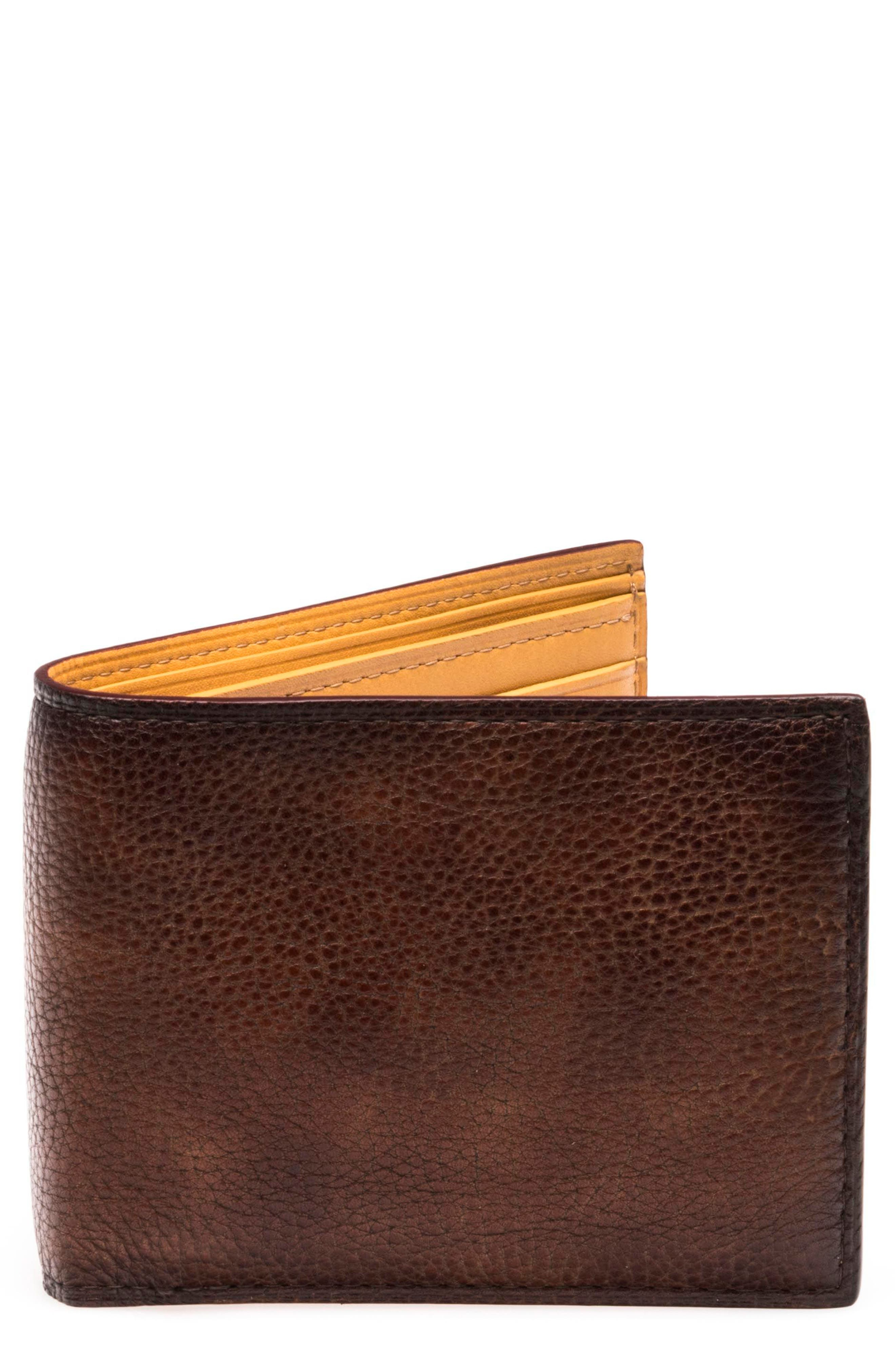 Leather Bifold,                         Main,                         color, Mid Brown