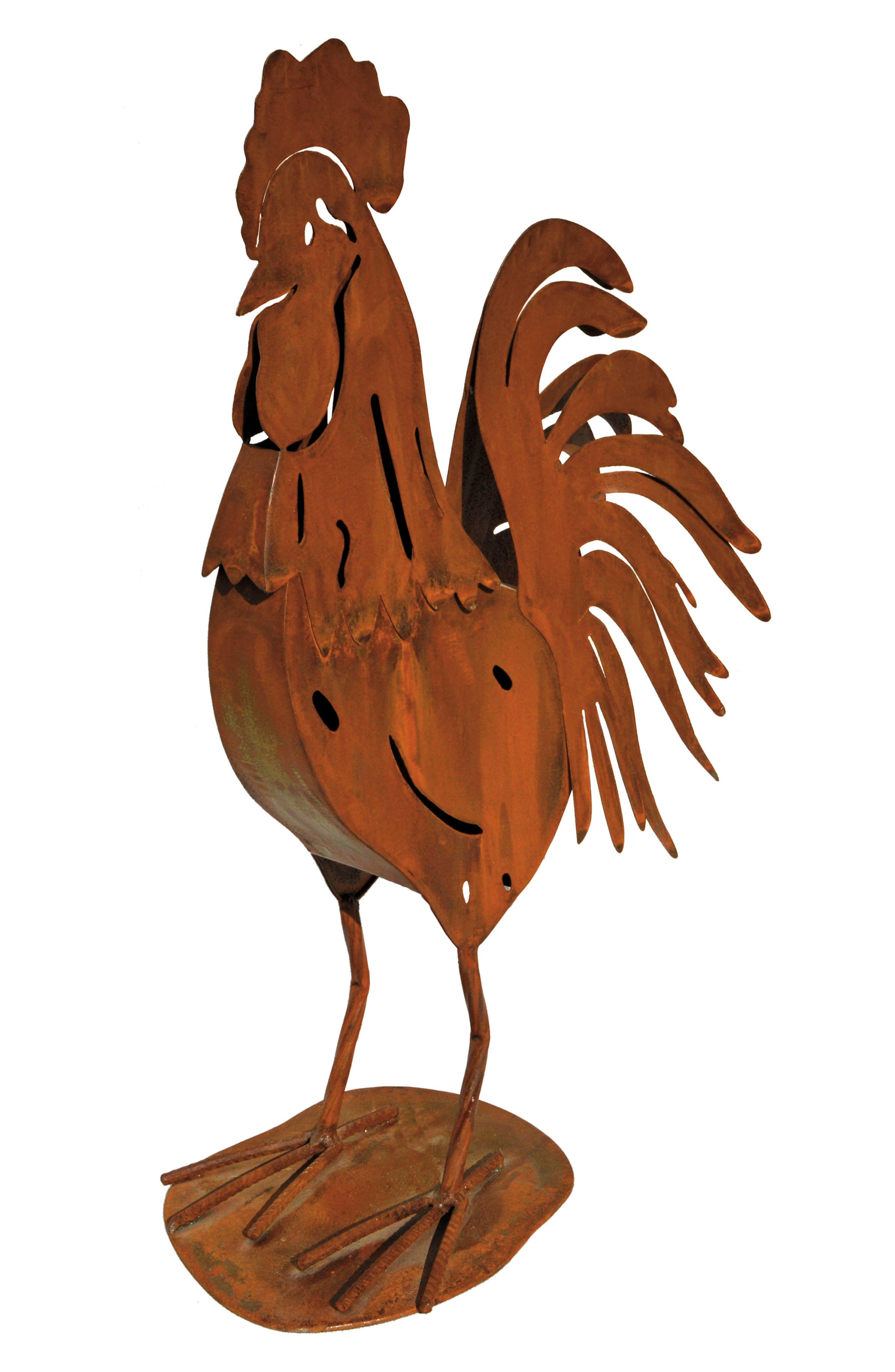 Farmhouse Rooster,                         Main,                         color, Metal