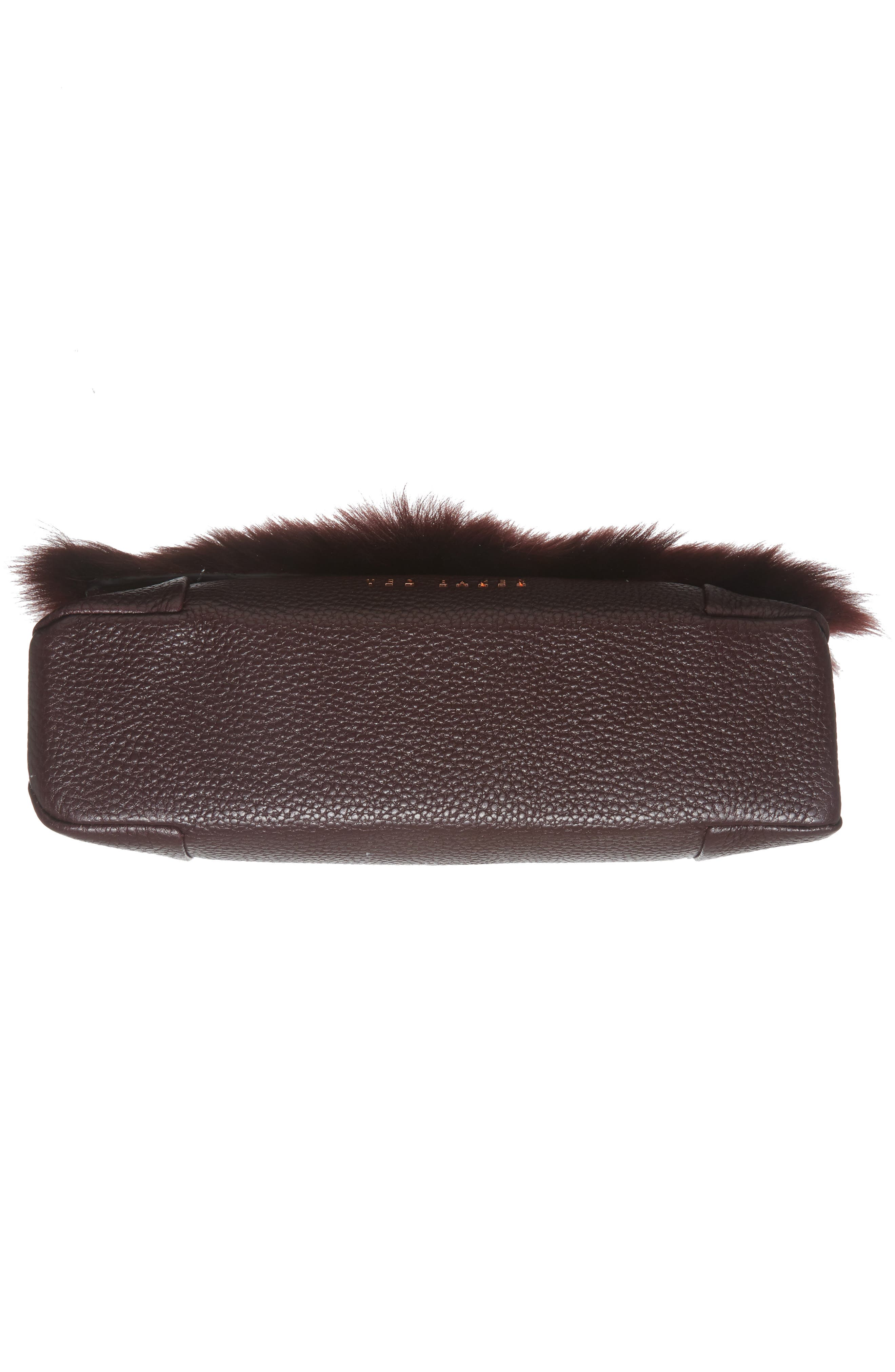 Alternate Image 5  - Ted Baker London Fuzzi Genuine Shearling & Leather Convertible Crossbody Bag