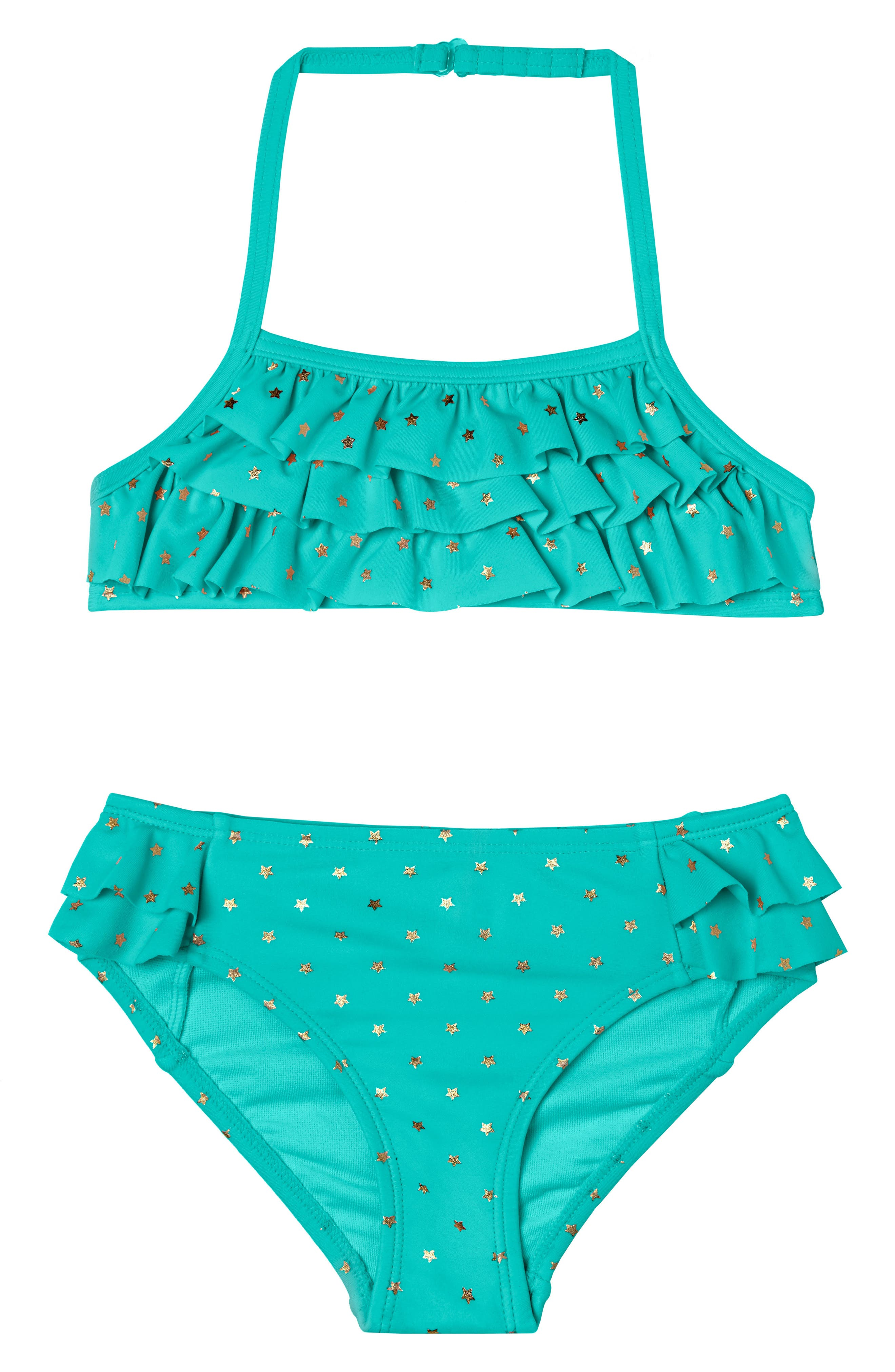 Twinkle Star Two-Piece Swimsuit,                         Main,                         color, Green