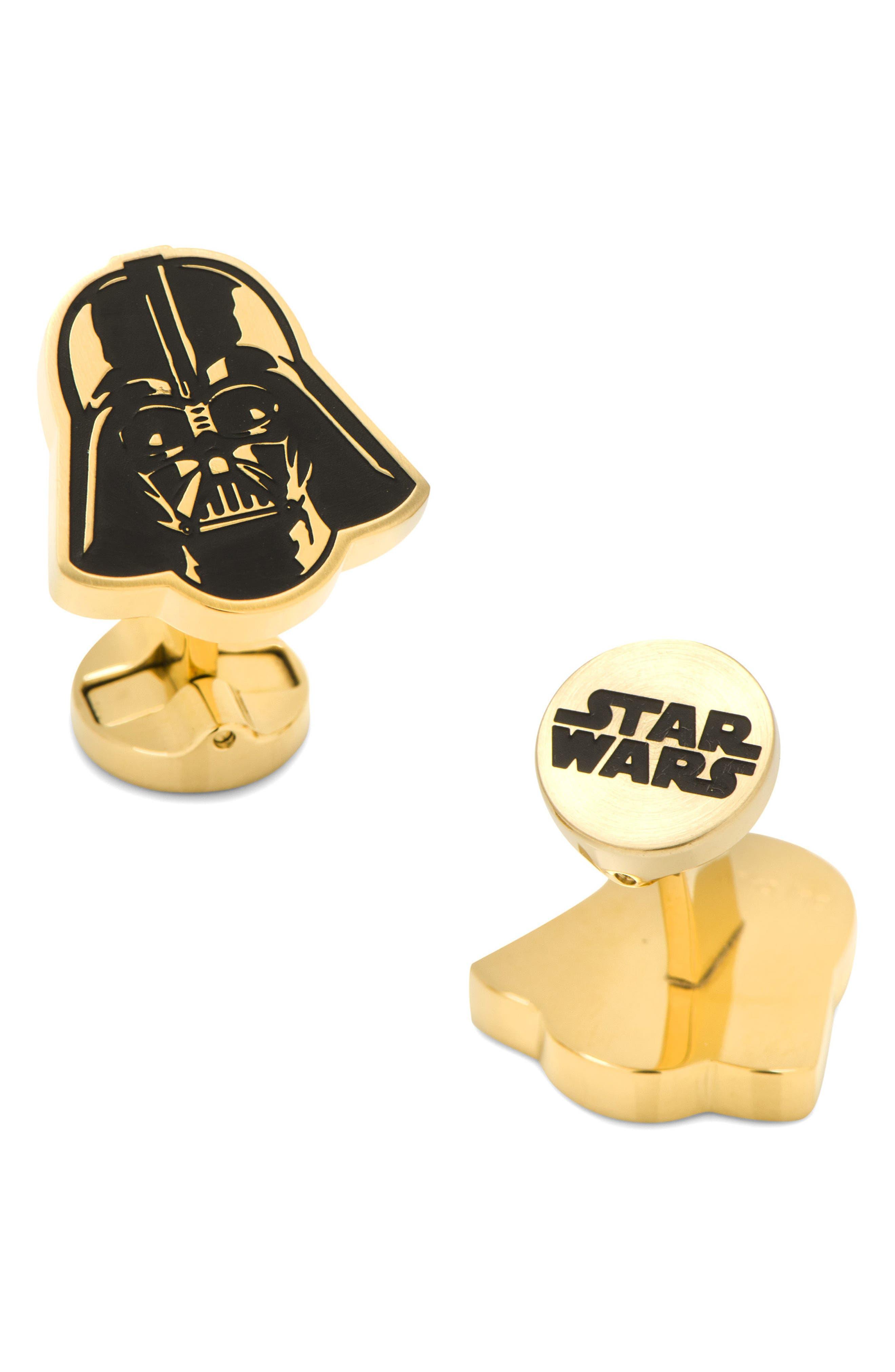 """""""Star Wars<sup>™</sup>"""" Darth Vader Cuff Links,                             Main thumbnail 1, color,                             Gold"""