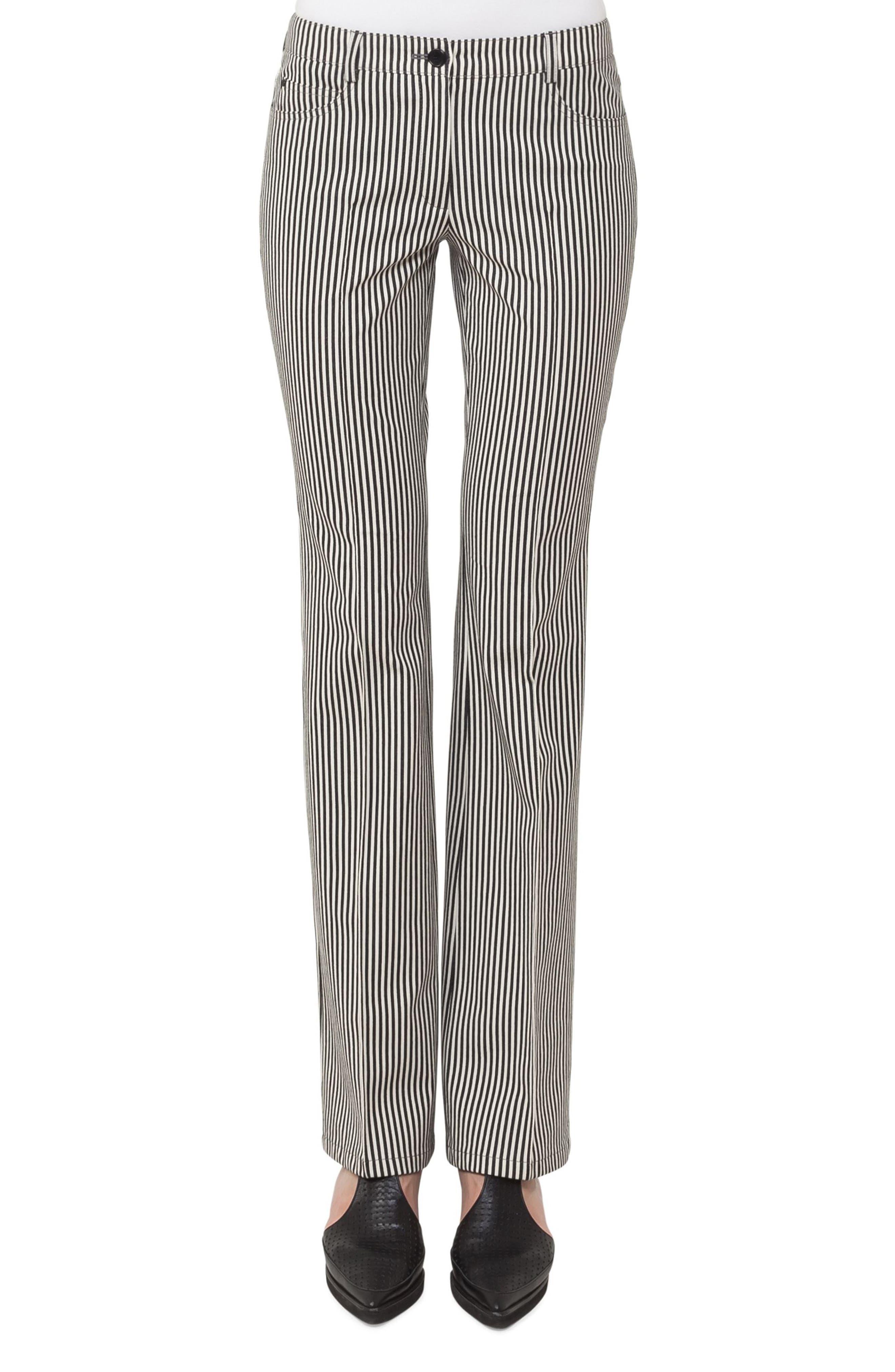 Main Image - Akris punto Faye Stripe Bootcut Pants