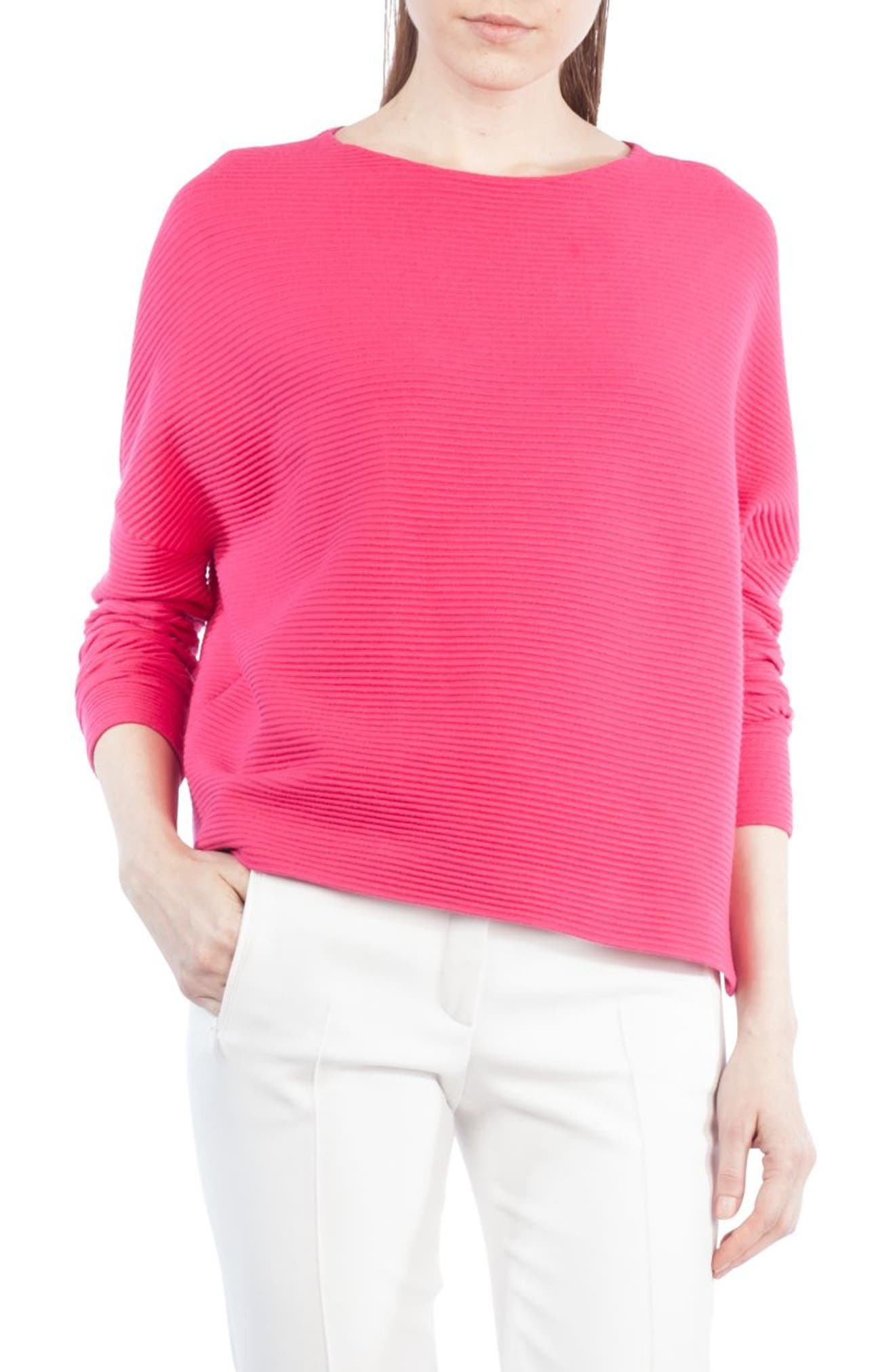 Stretch Wool Pullover,                         Main,                         color, Sunset