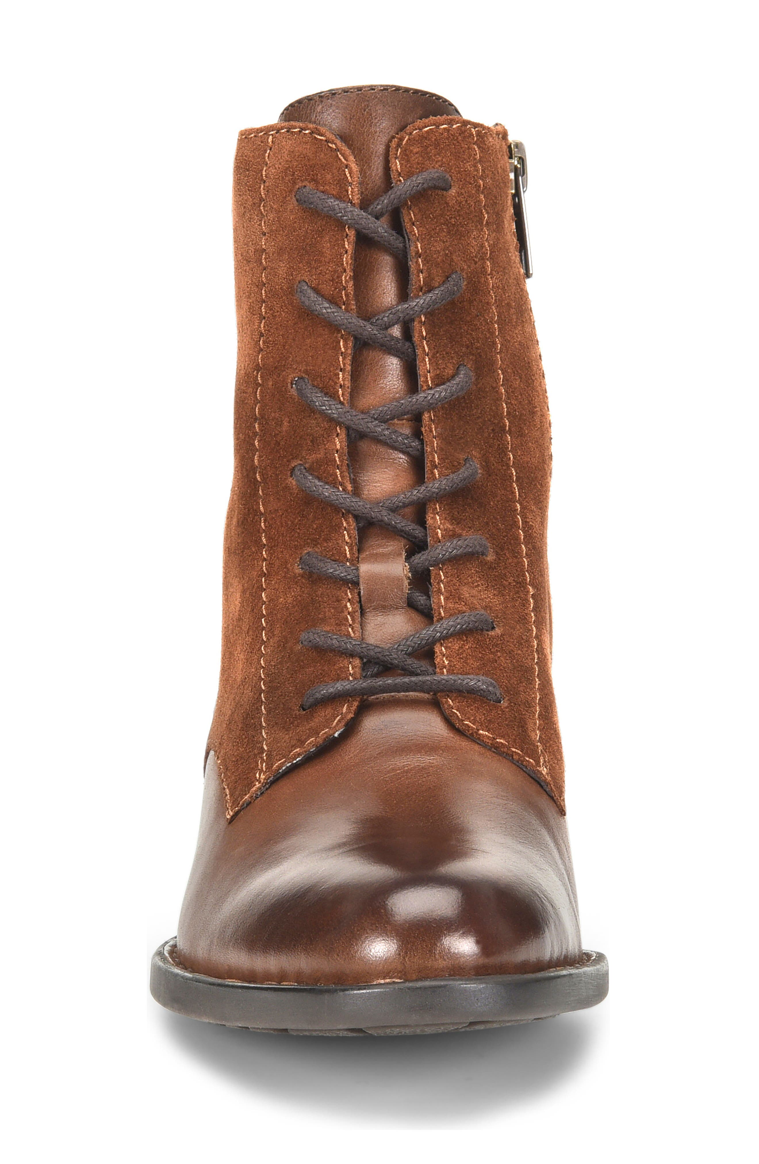 Clements Lace-Up Boot,                             Alternate thumbnail 4, color,                             Brown/ Rust Combo