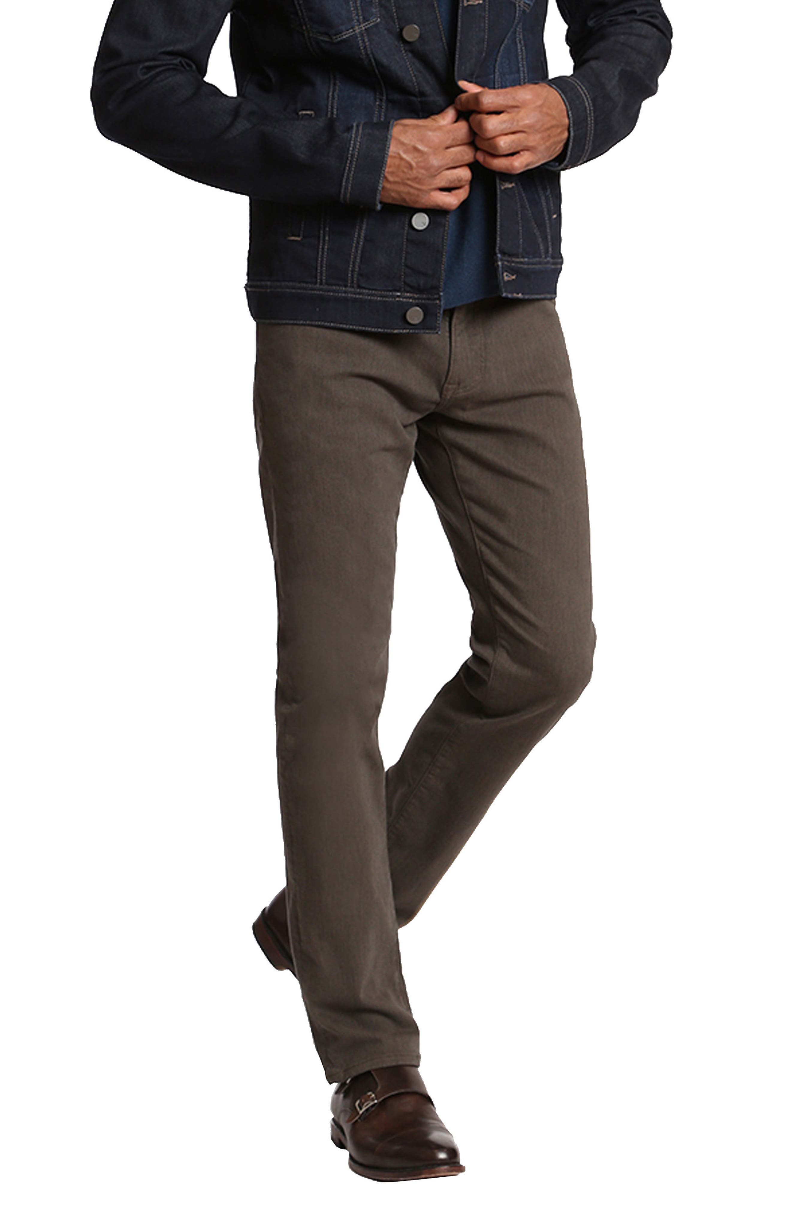 Charisma Relaxed Fit Jeans,                             Alternate thumbnail 4, color,                             Taupe Diagonal