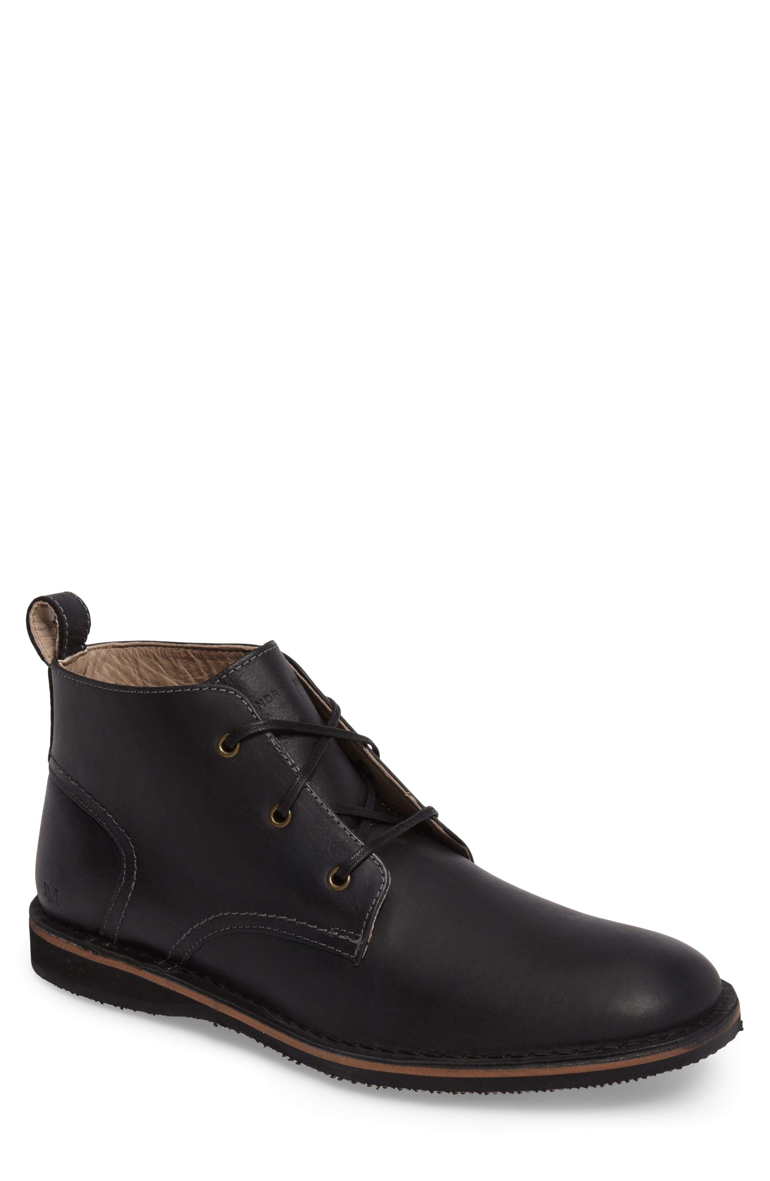 Dorchester Chukka Boot,                             Main thumbnail 1, color,                             Black Leather