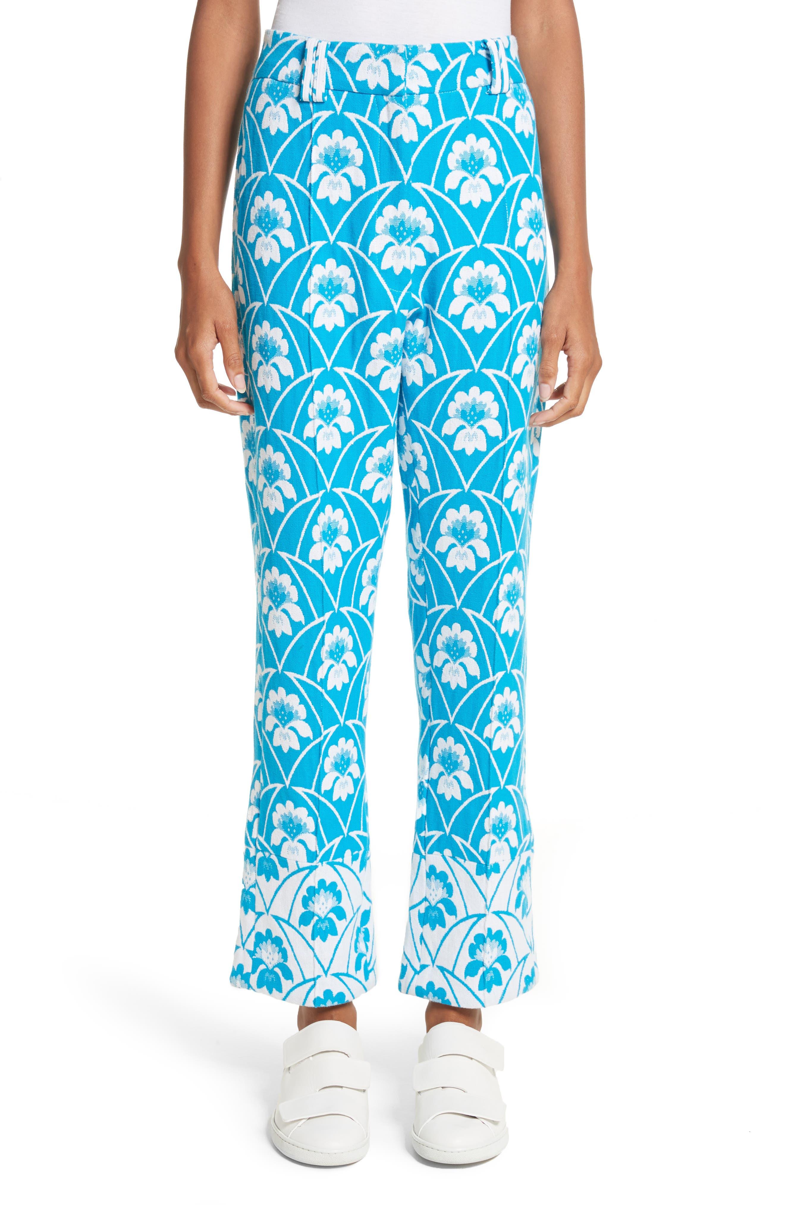 Richard Malone Floral Slim Leg Trousers