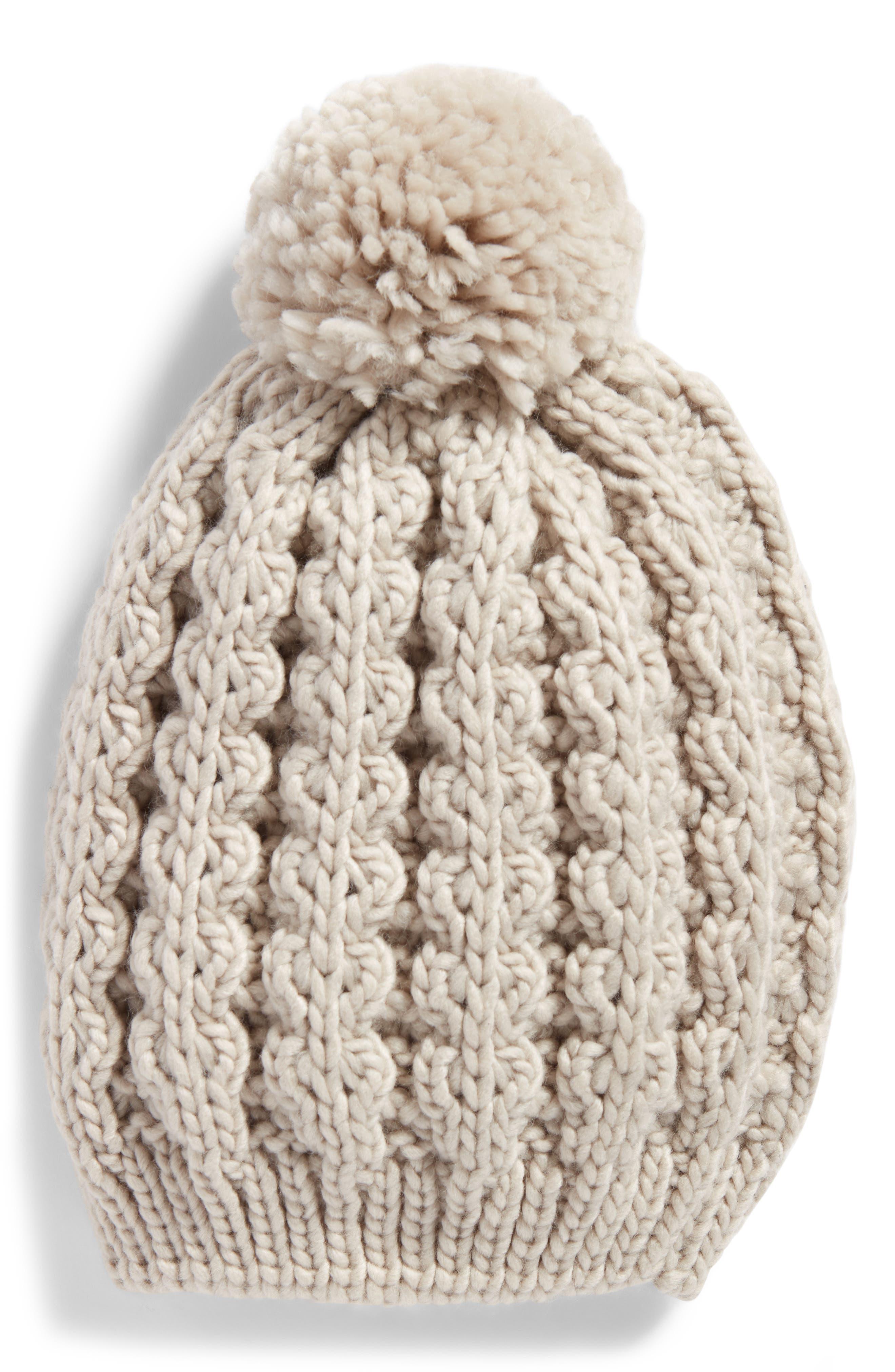 Treasure & Bond Chunky Knit Pom Beanie