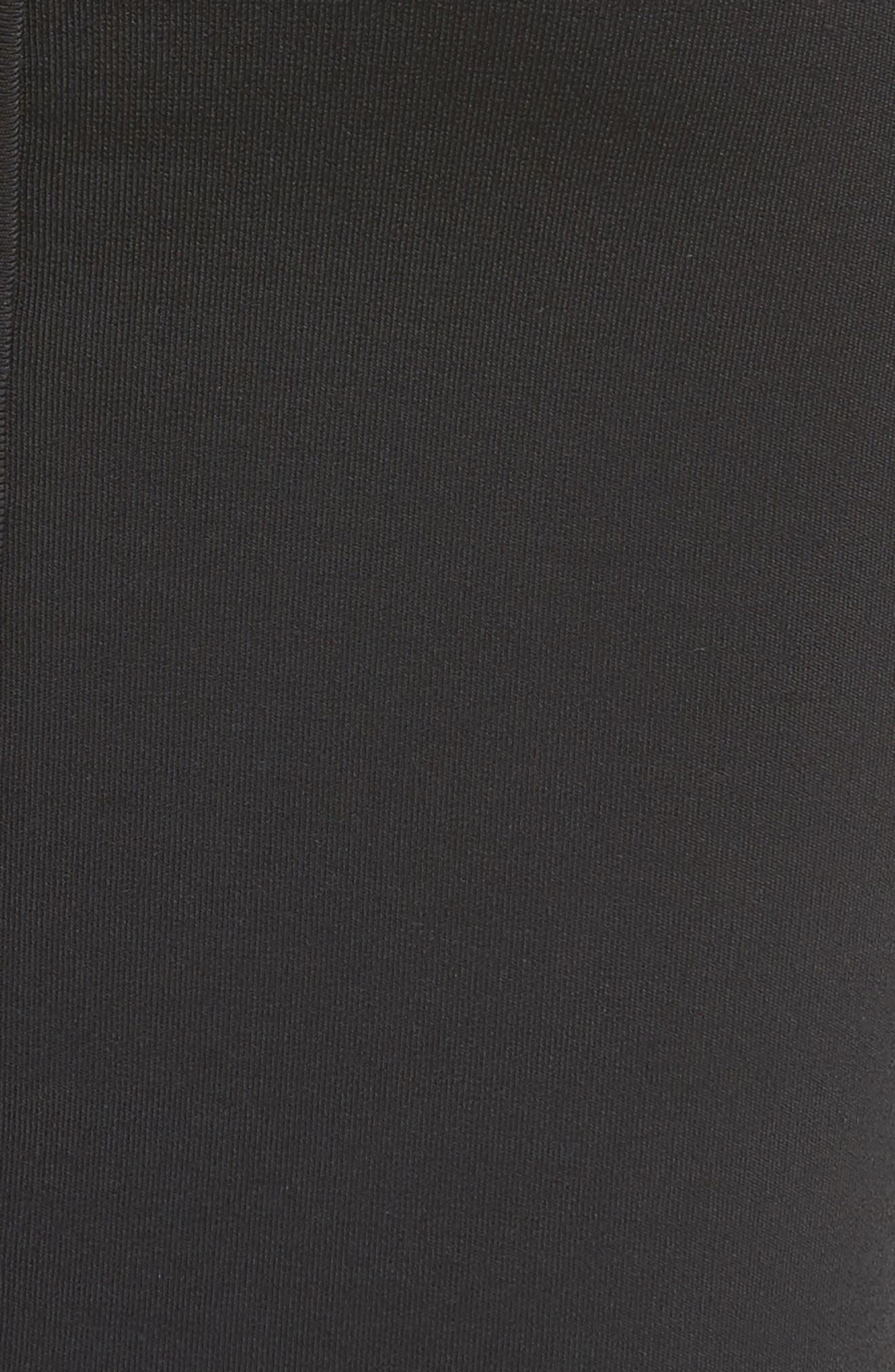 Knit Pencil Skirt,                             Alternate thumbnail 5, color,                             Black