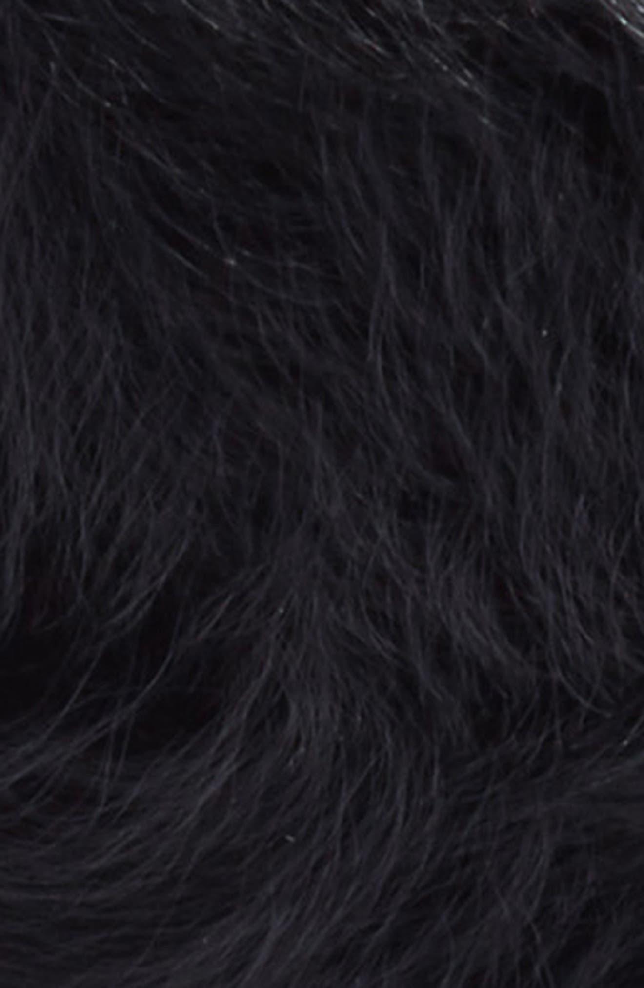 Persian Genuine Shearling Beret,                             Alternate thumbnail 2, color,                             Black