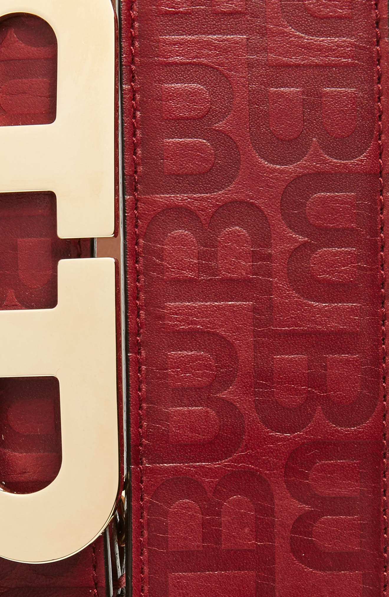 Alternate Image 2  - Bally Stamped Logo Leather Belt