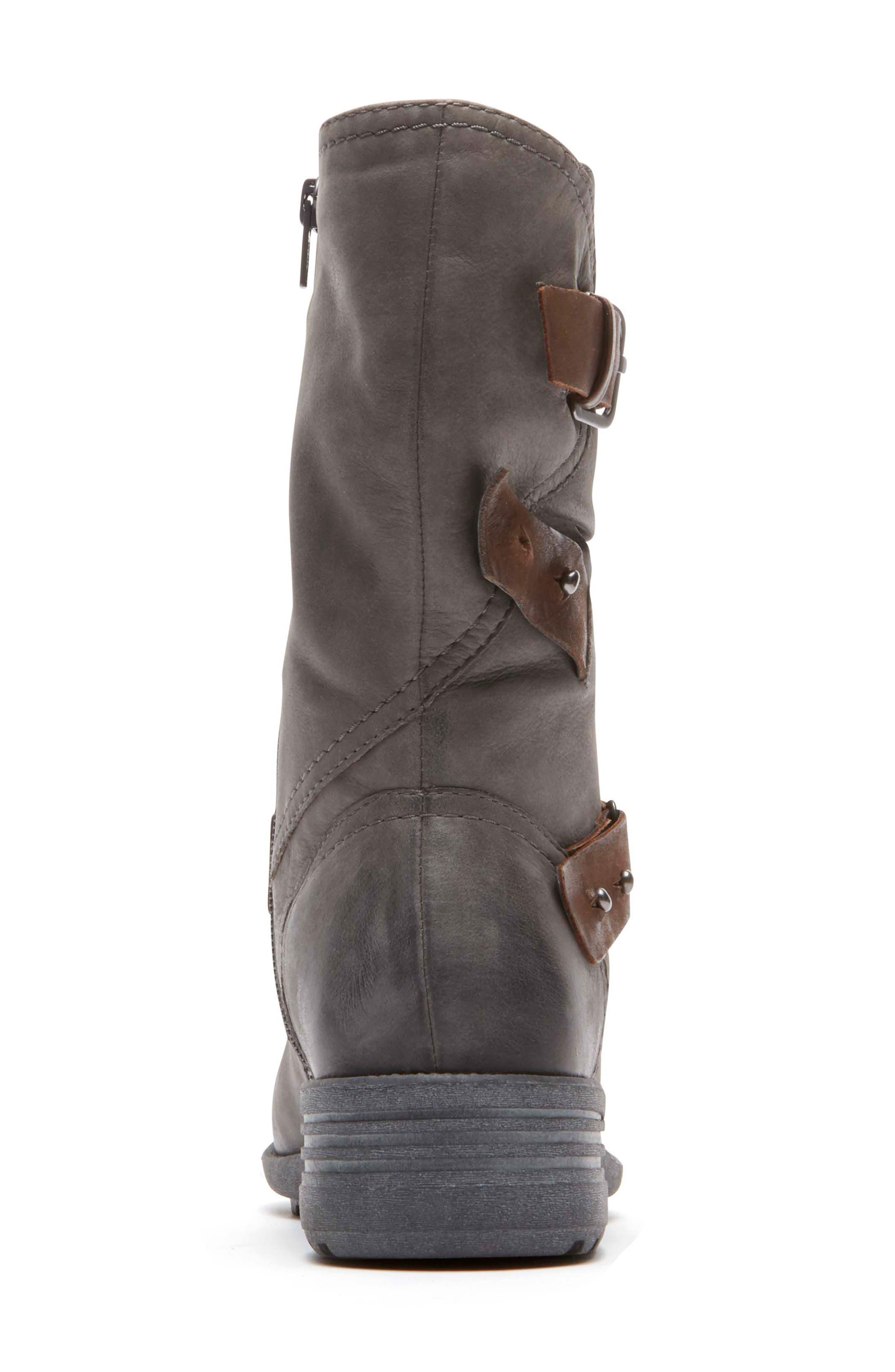 Brunswick Boot,                             Alternate thumbnail 5, color,                             Dark Grey Leather