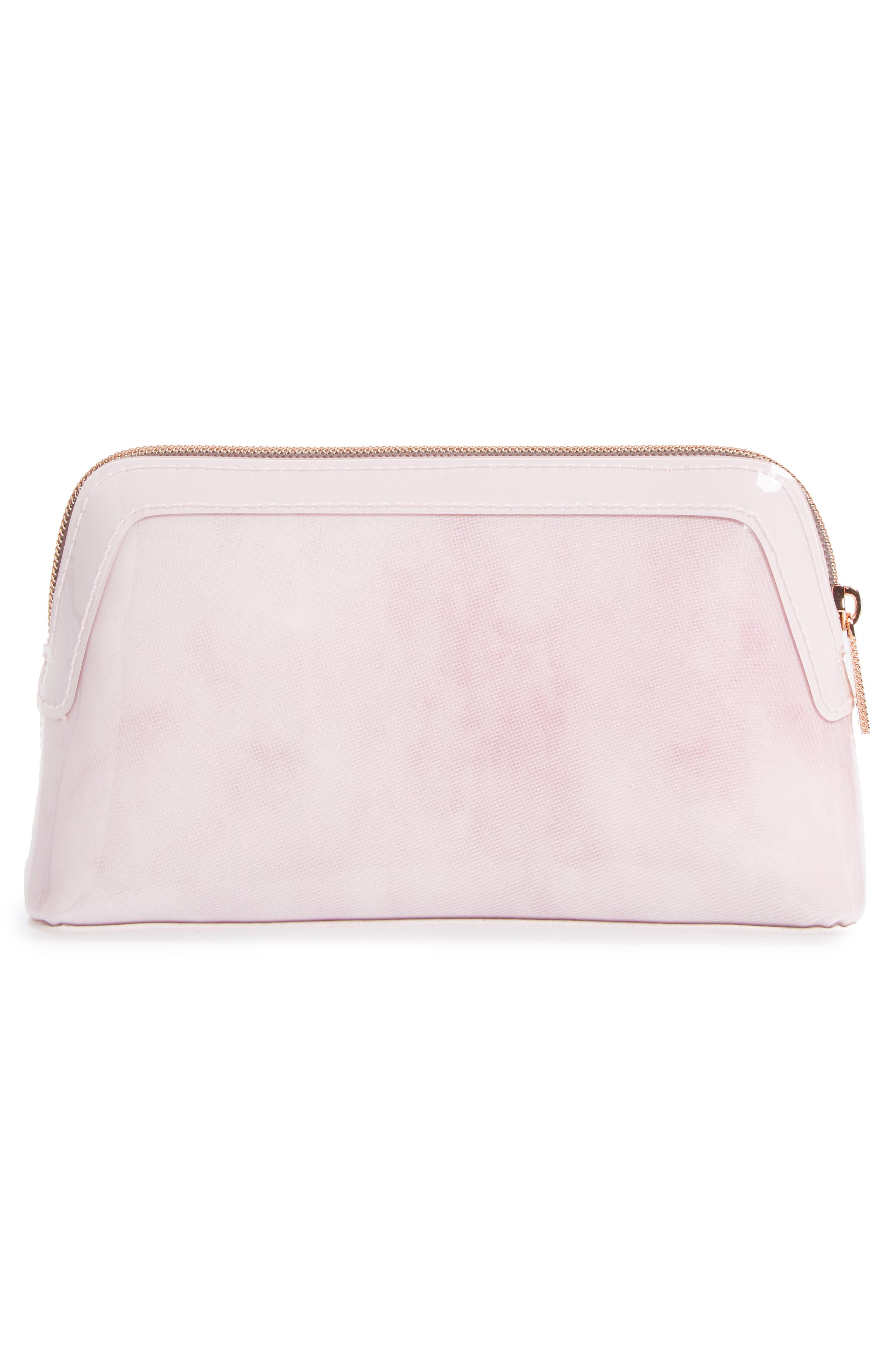 Zandra - Rose Quartz Cosmetics Bag,                             Alternate thumbnail 2, color,                             Nude Pink