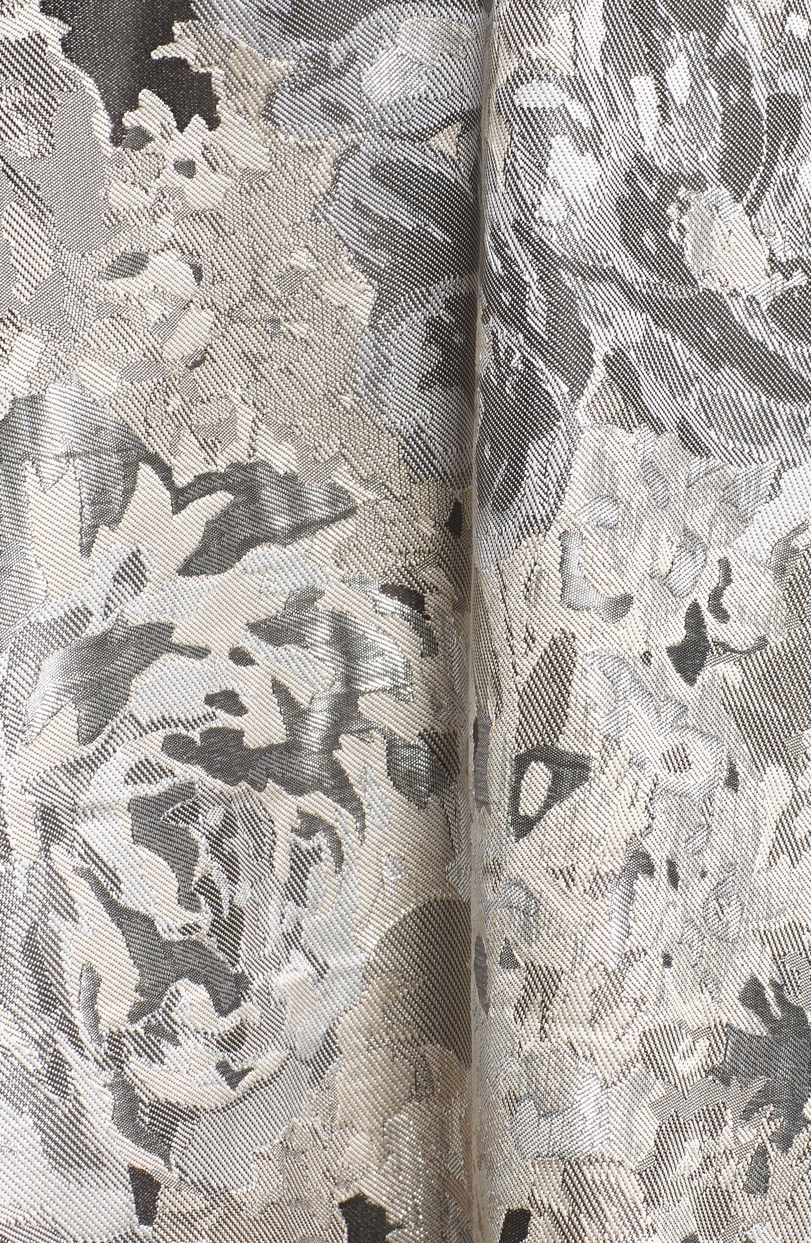 Alternate Image 5  - Eliza J Jacquard High/Low Dress (Regular & Petite)