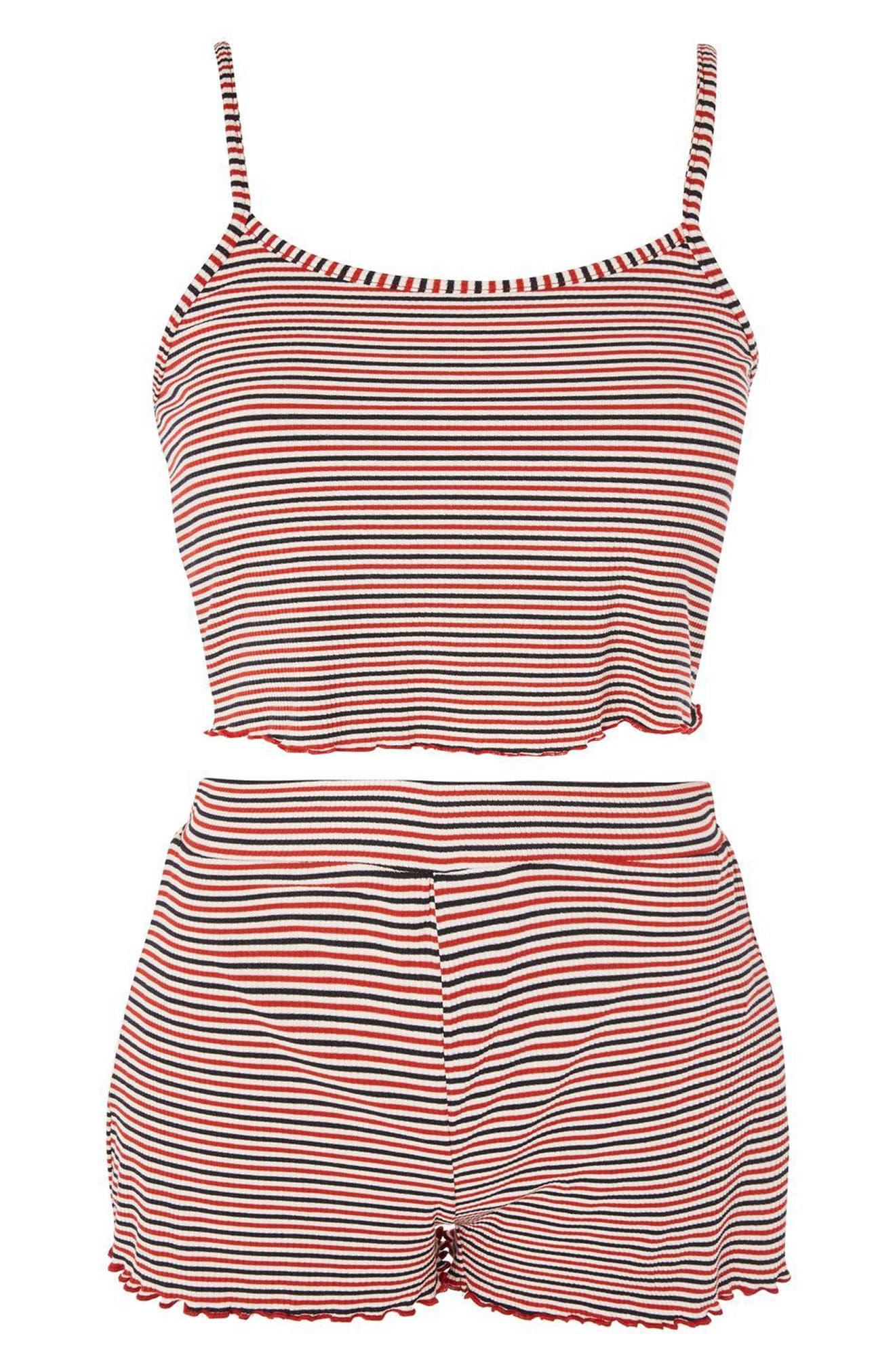 Alternate Image 3  - Topshop Striped Pajamas