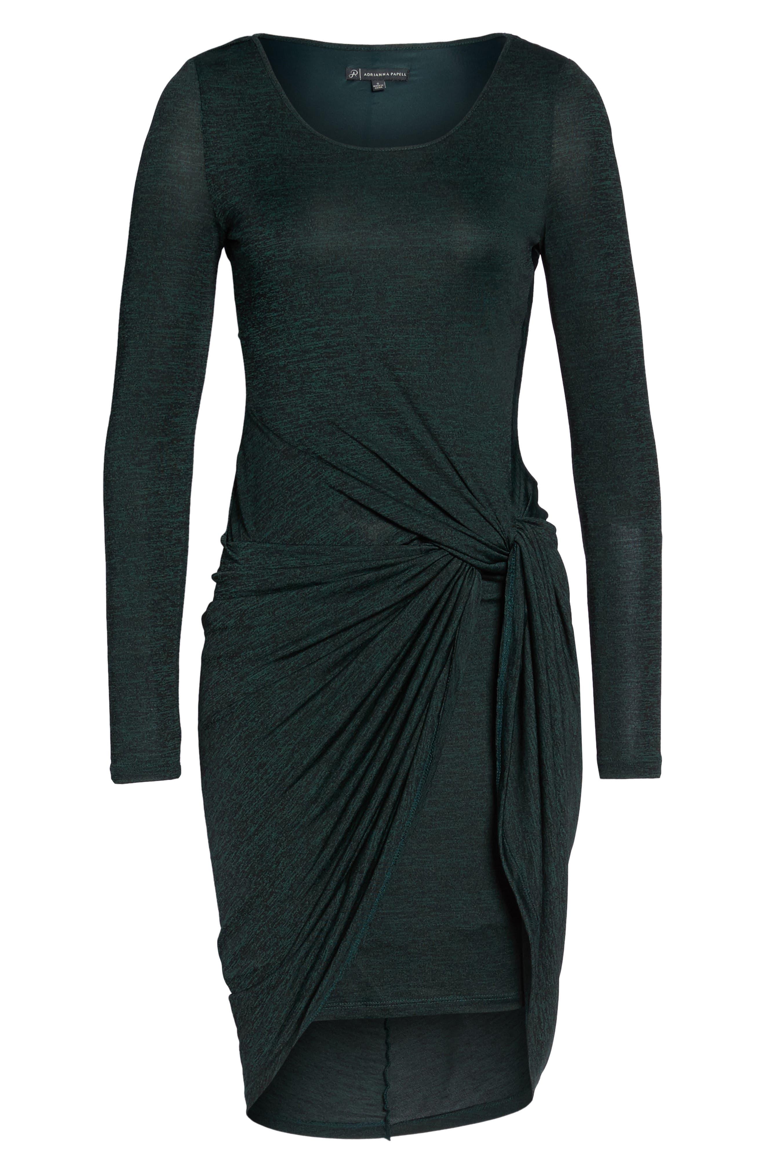 Jaspee Knot Midi Dress,                             Alternate thumbnail 3, color,                             Hunter Black