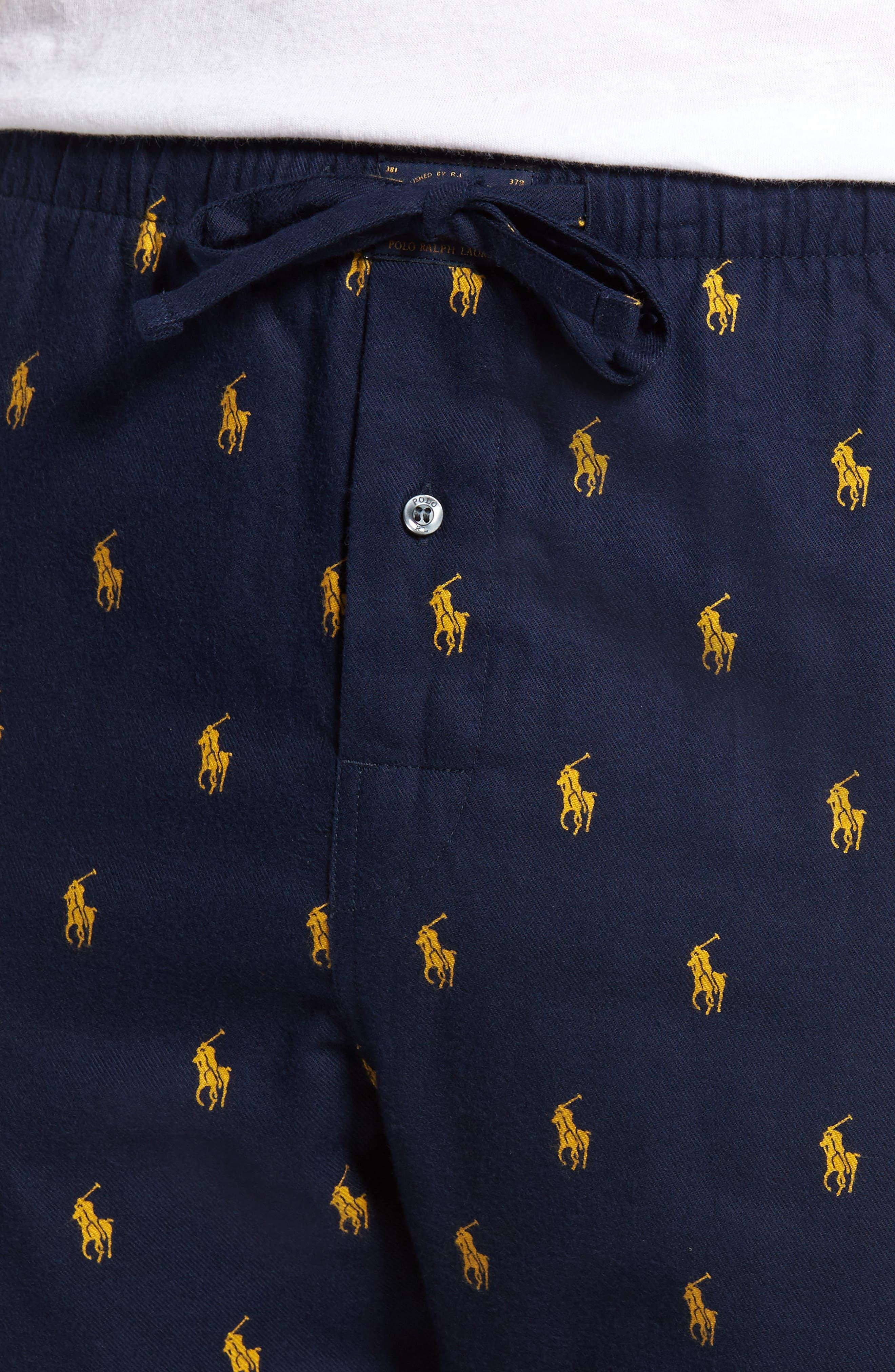 Alternate Image 4  - Polo Ralph Lauren Flannel Cotton Jogger Pants