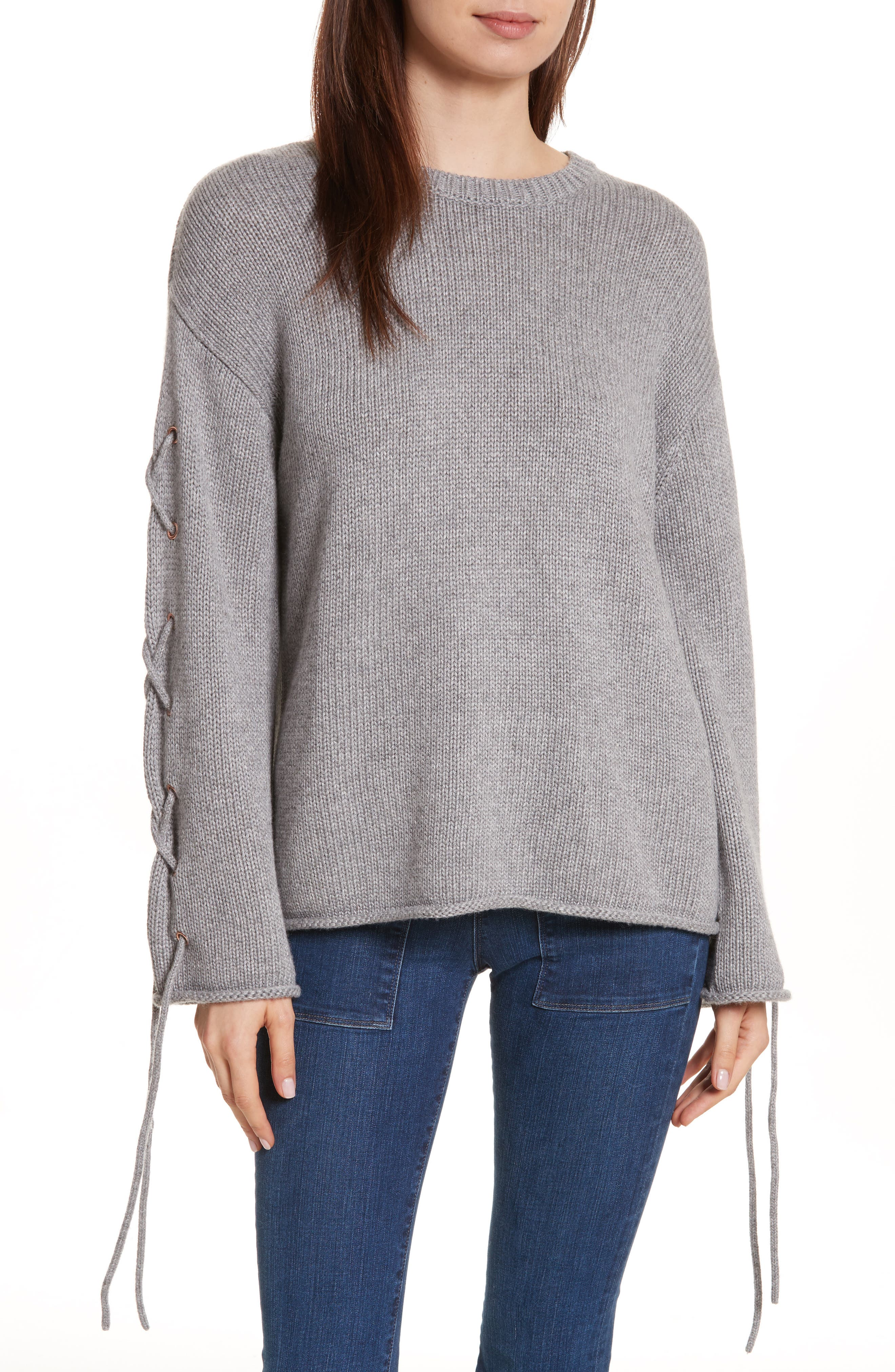 See by Chloé Lace-Up Sleeve Pullover