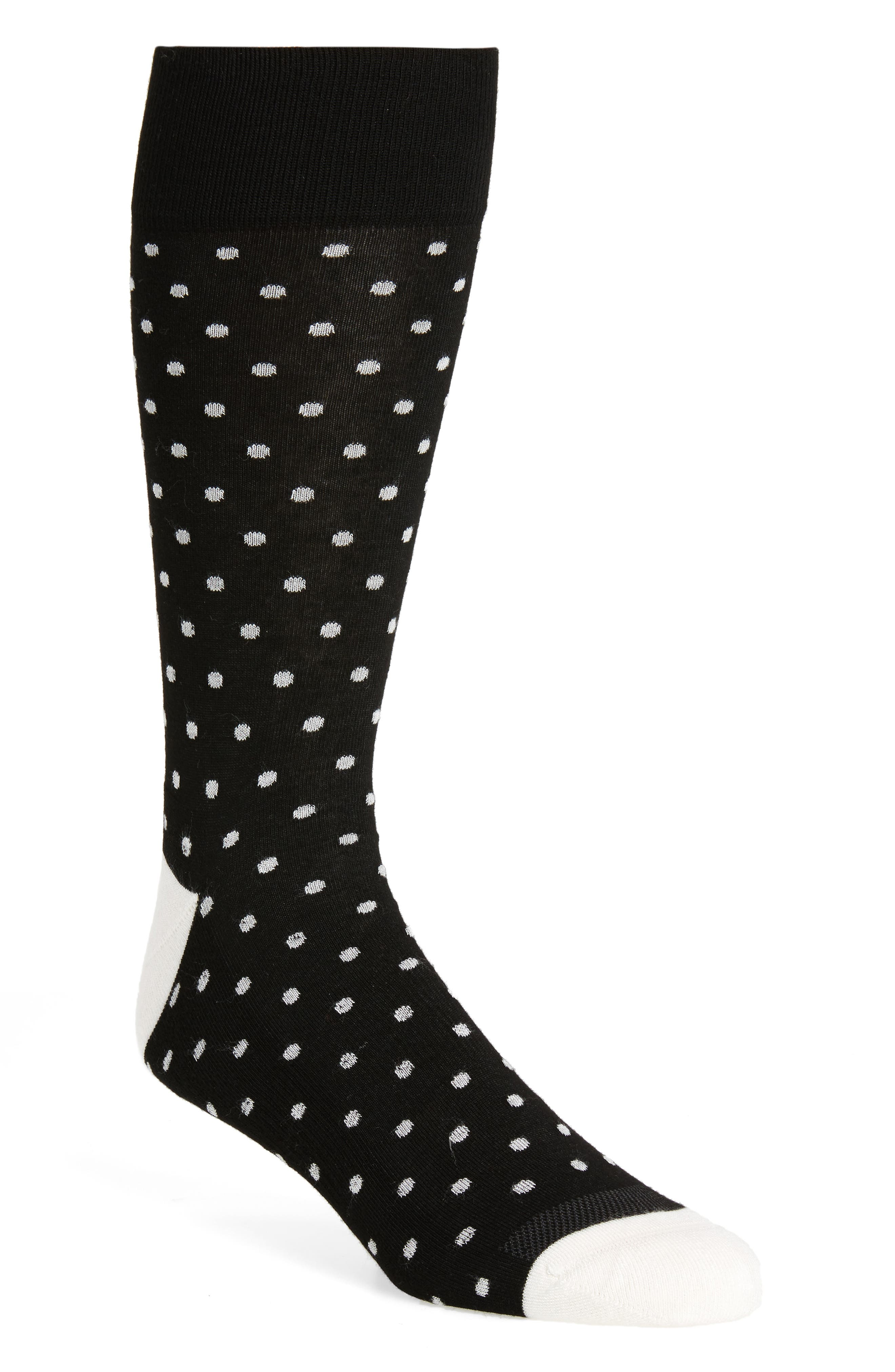 Alternate Image 1 Selected - Nordstrom Men's Shop Dot Socks (3 for $30)