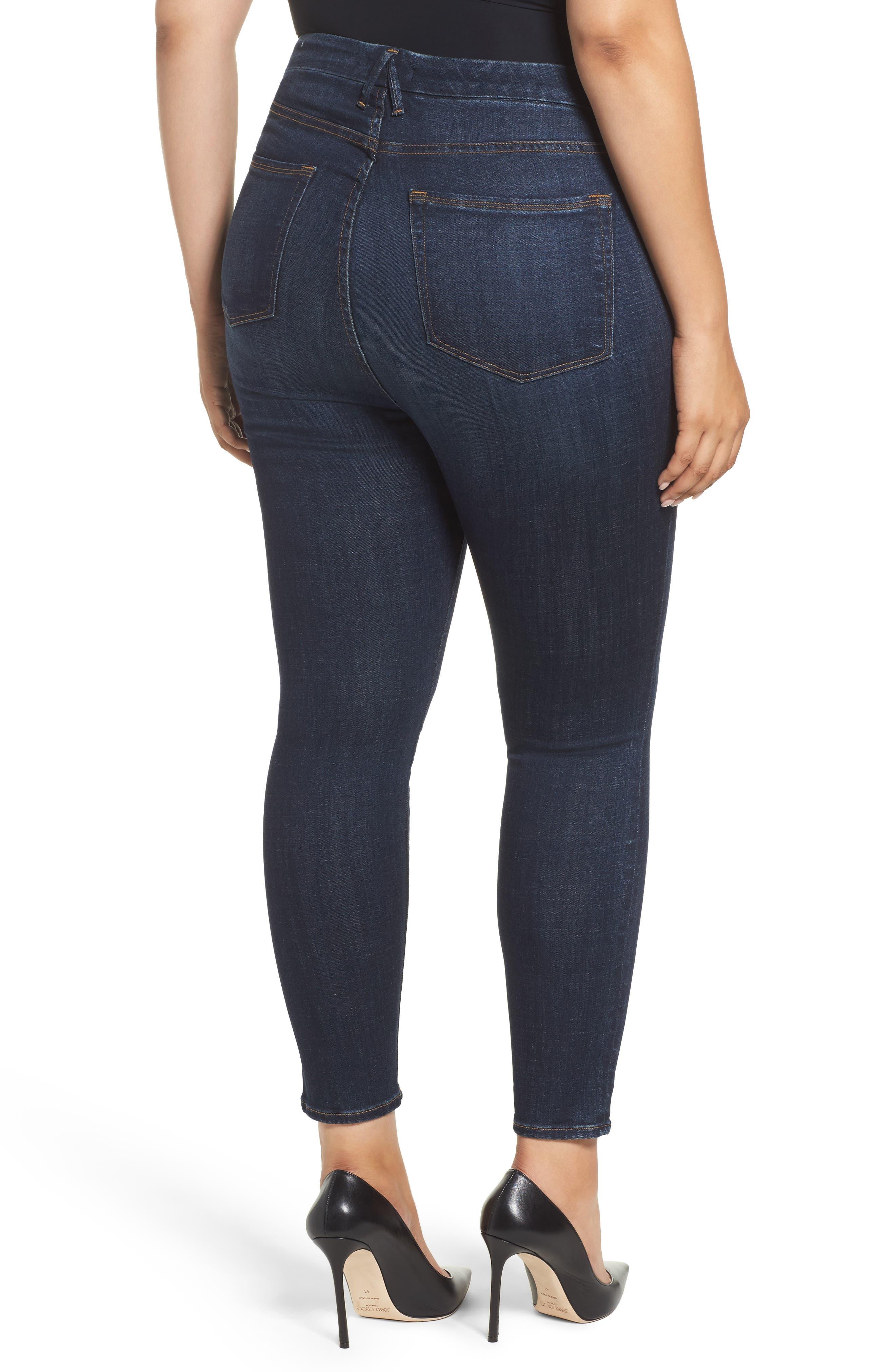 Good Legs High Waist Ankle Skinny Jeans,                             Alternate thumbnail 6, color,                             Blue 089