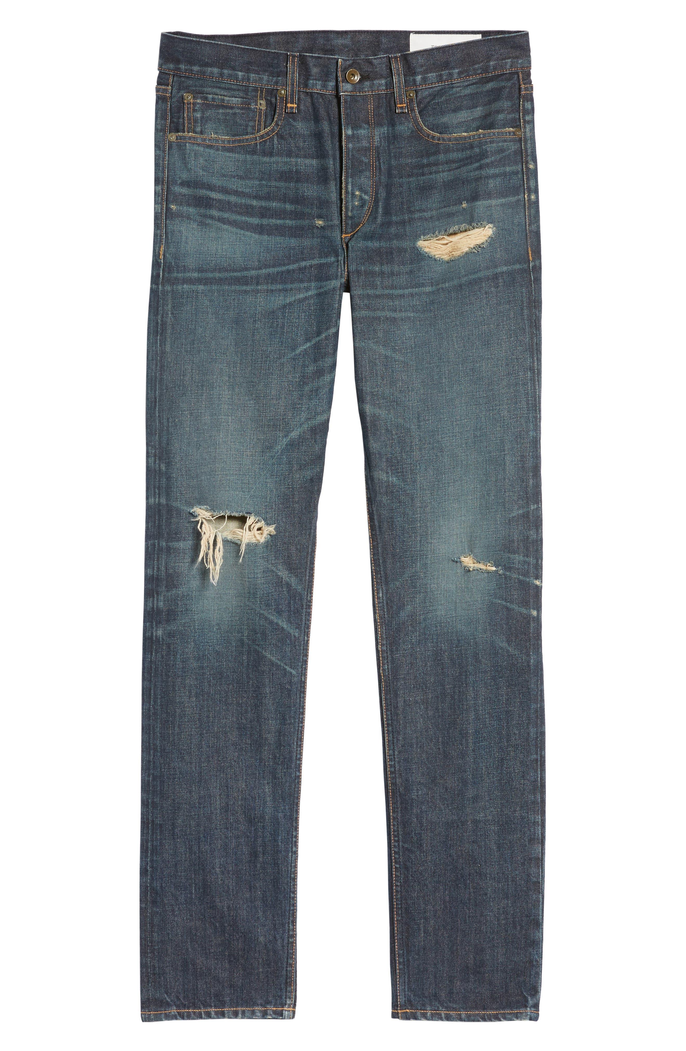 Alternate Image 6  - rag & bone Fit 2 Slim Fit Jeans (Zeitgeist)