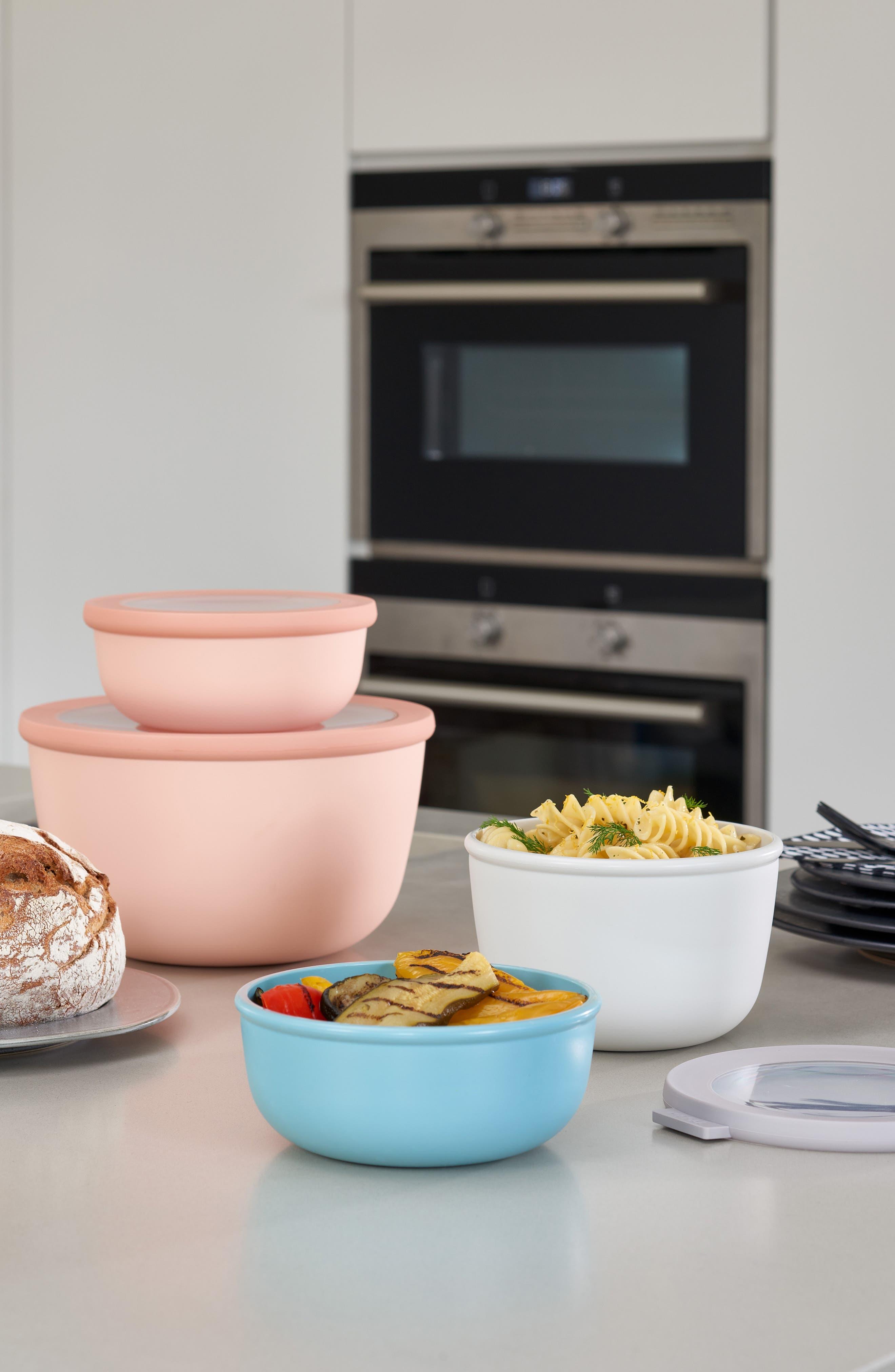 Cirqula Set of 4 Storage Bowls,                             Alternate thumbnail 6, color,