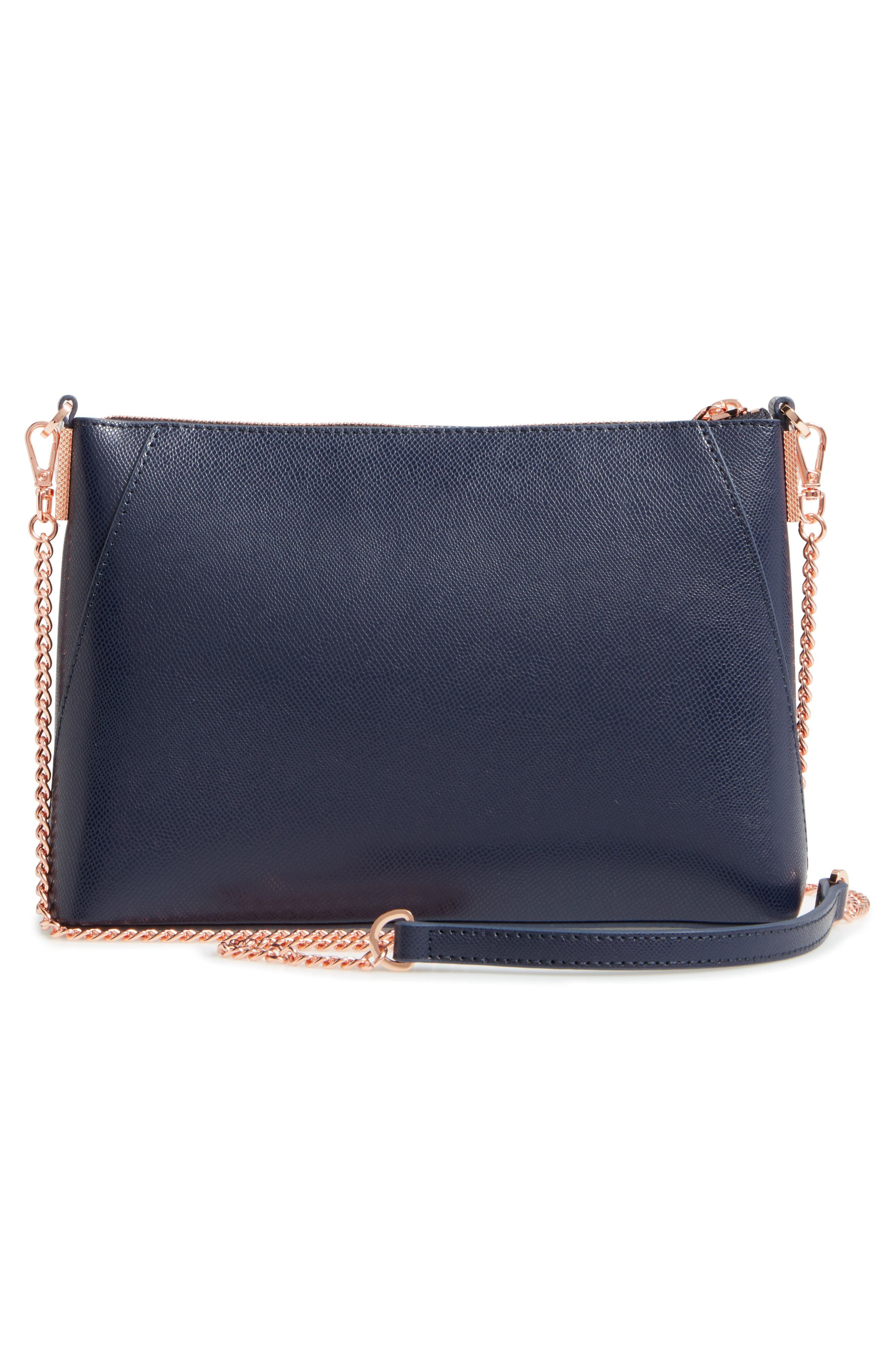 Marisiaa - Kyoto Gardens Leather Crossbody Bag,                             Alternate thumbnail 2, color,                             Mid Blue