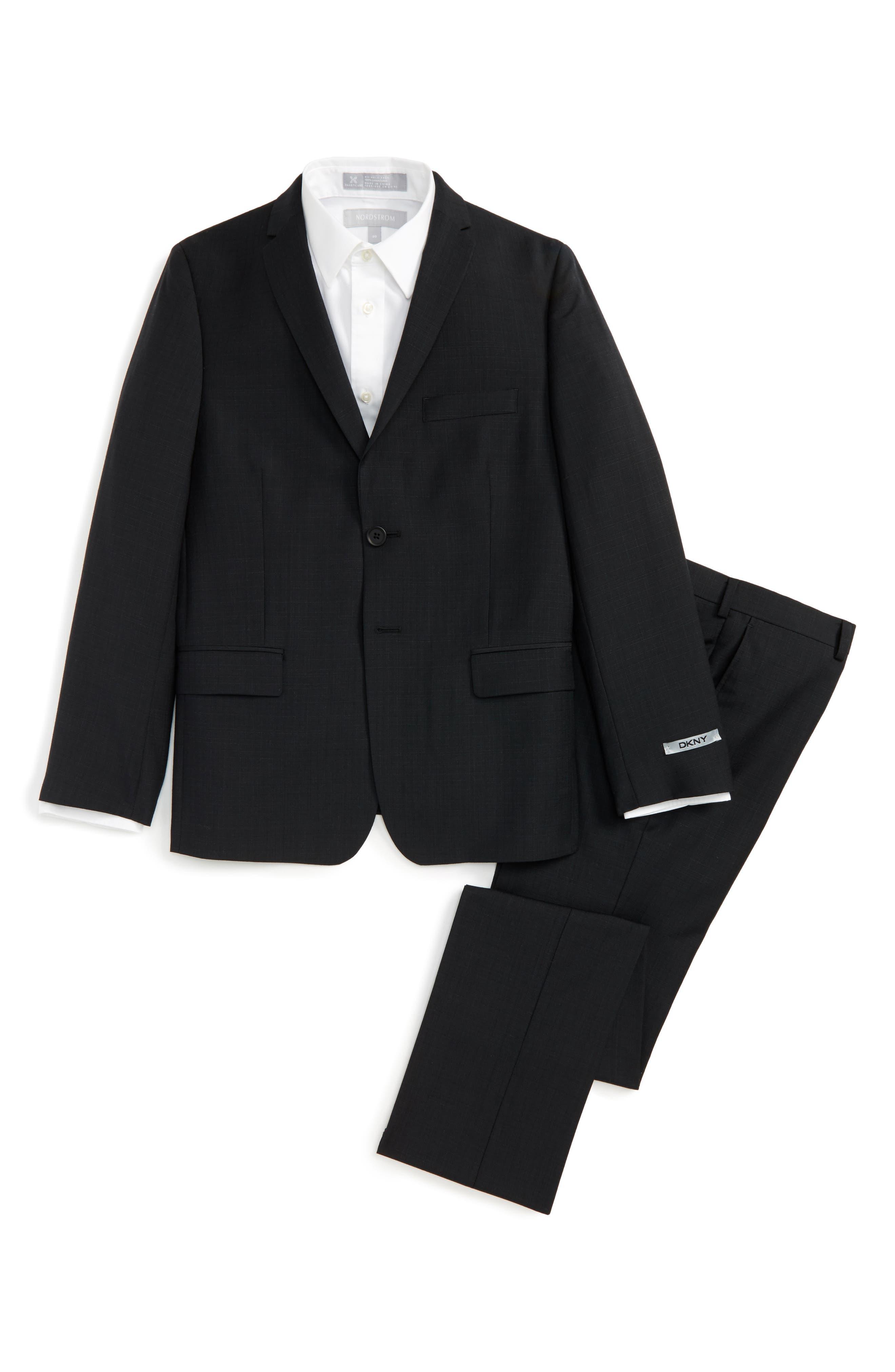 Alternate Image 1 Selected - DKNY Wool Suit (Big Boys)