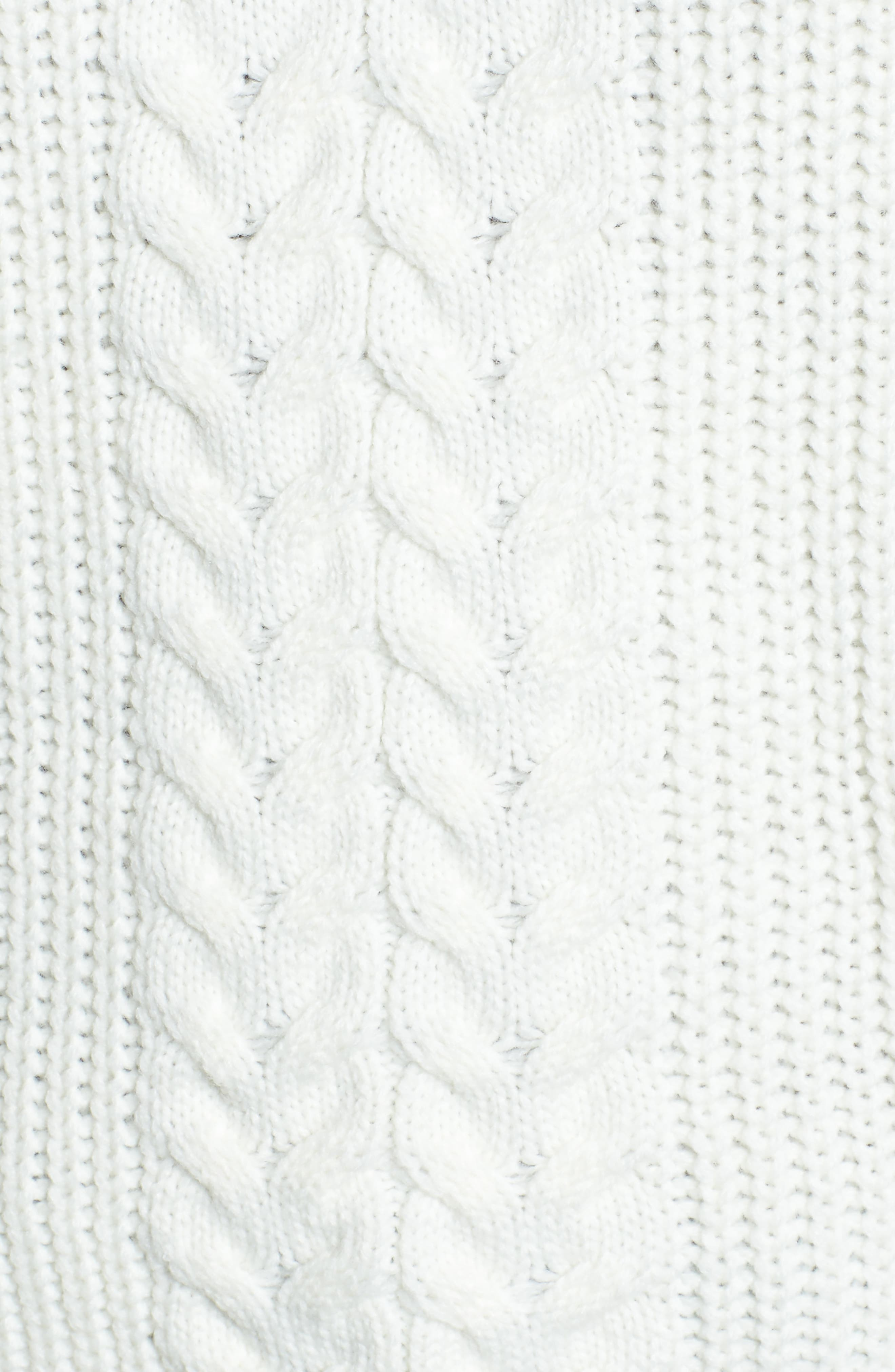 Alternate Image 5  - Love by Design Cross Front Braided Sweater