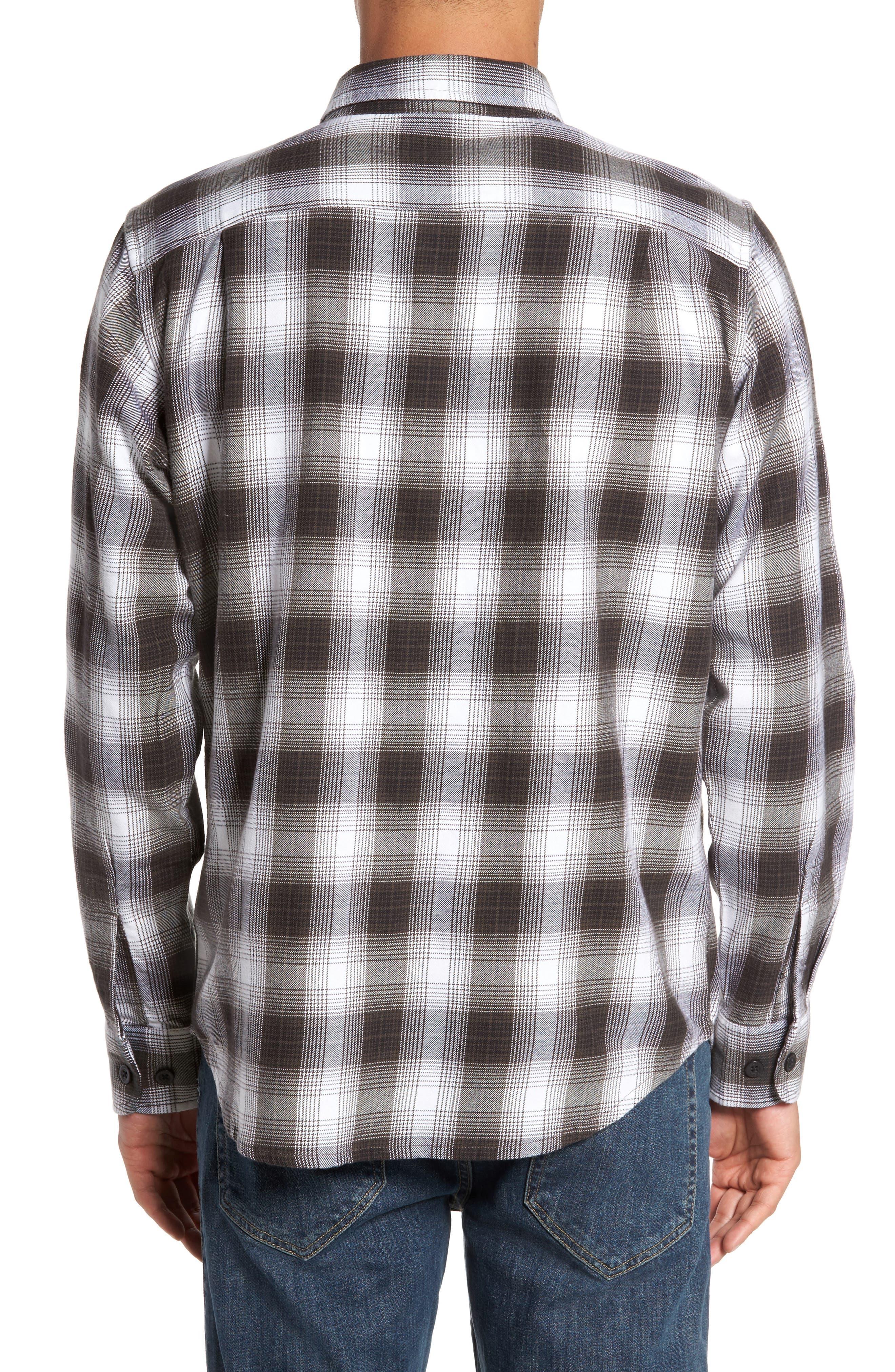 Kemper Plaid Woven Shirt,                             Alternate thumbnail 2, color,                             Black Multi