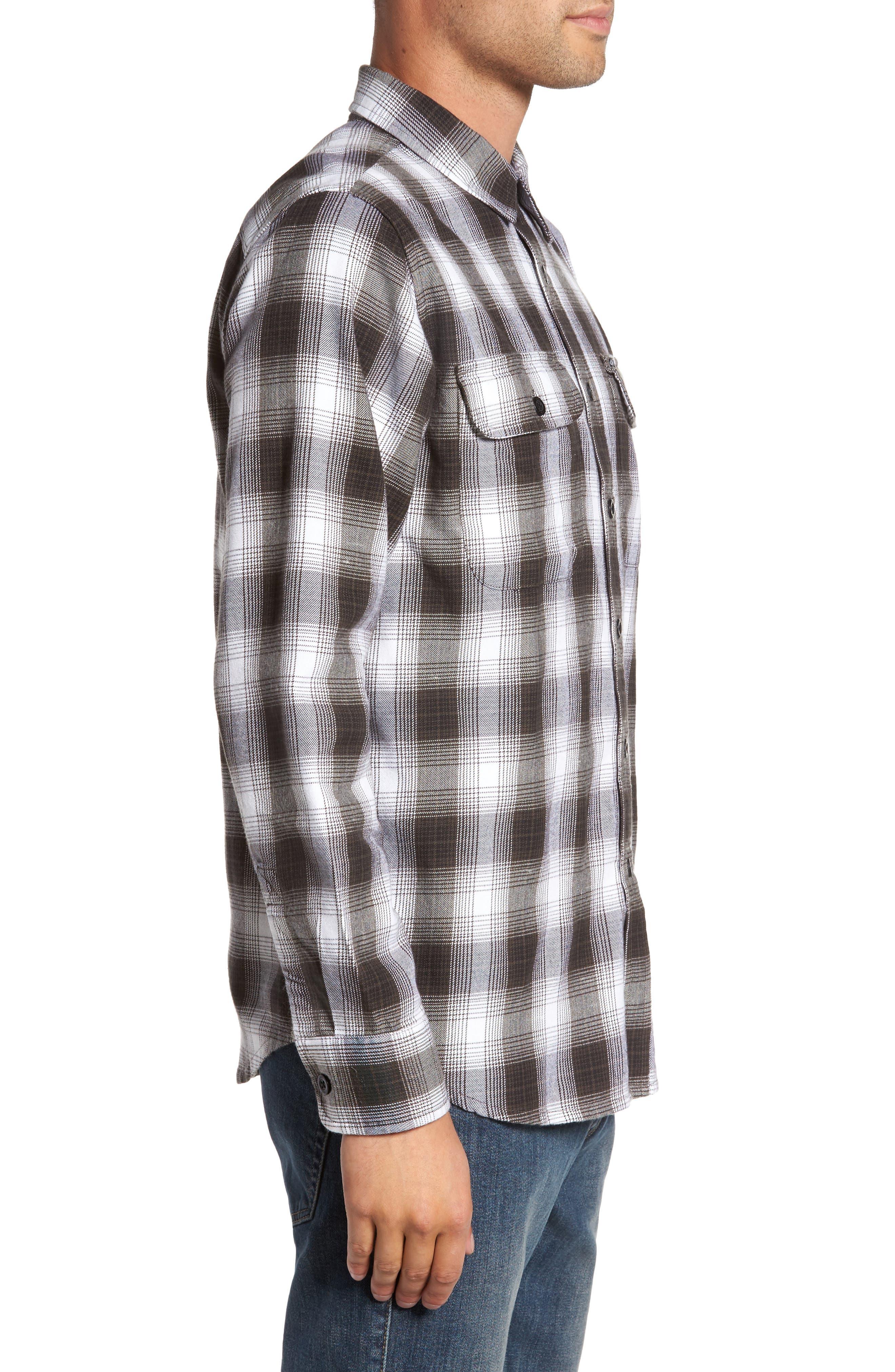 Kemper Plaid Woven Shirt,                             Alternate thumbnail 3, color,                             Black Multi