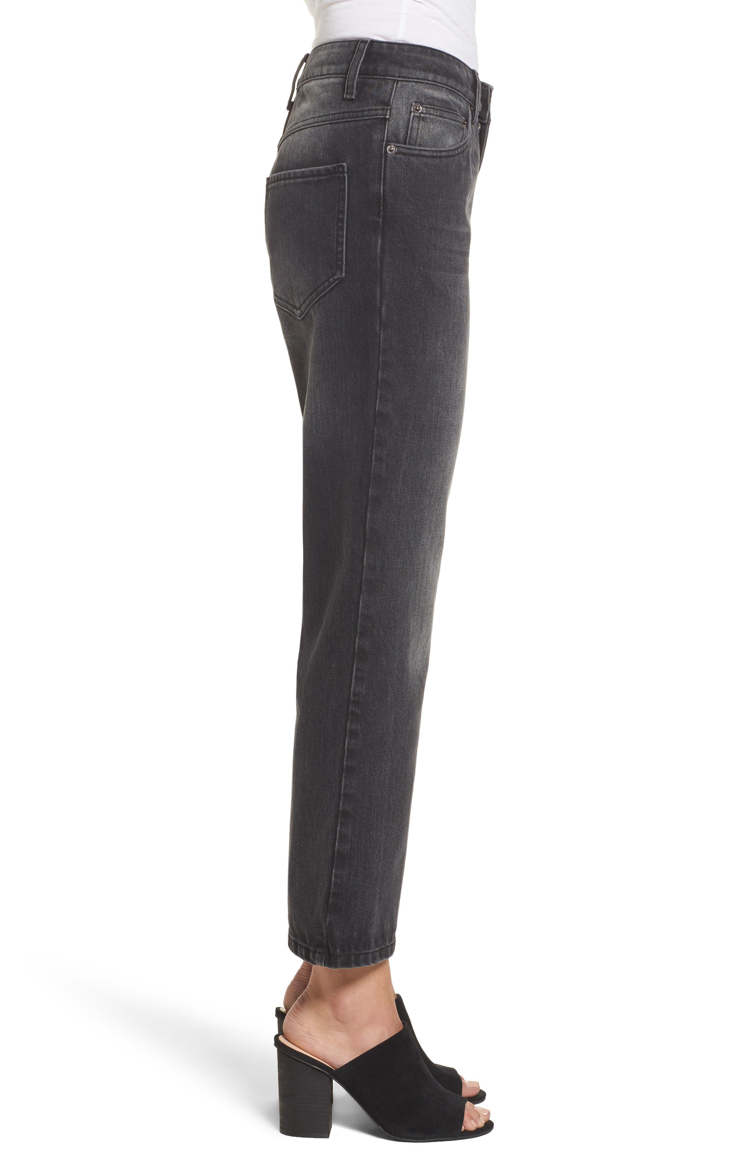 Alternate Image 3  - Sincerely Jules High Waist Crop Flare Jeans (Washed Black)