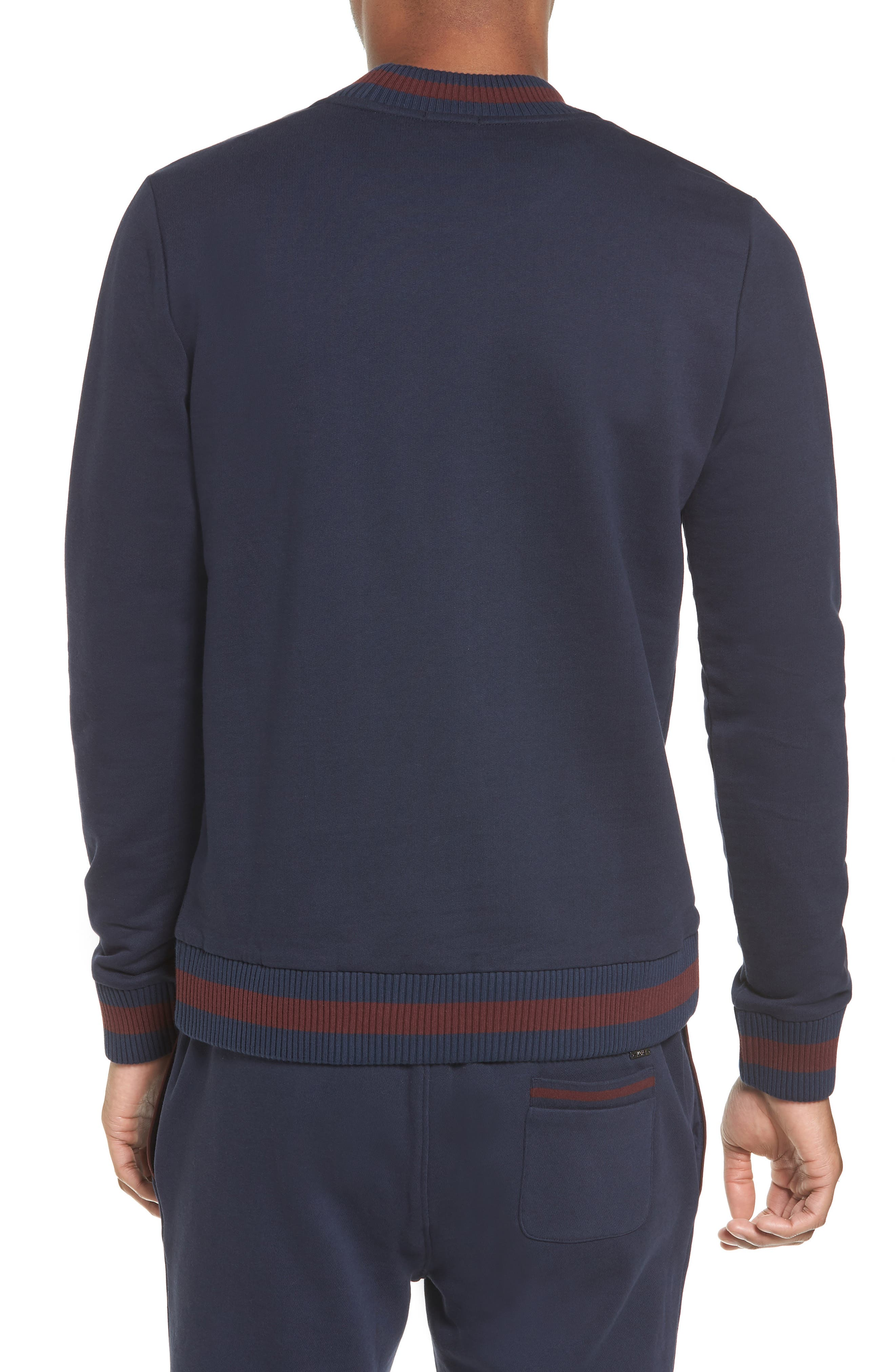 Skubic Slim Crewneck Sweatshirt,                             Alternate thumbnail 2, color,                             Navy