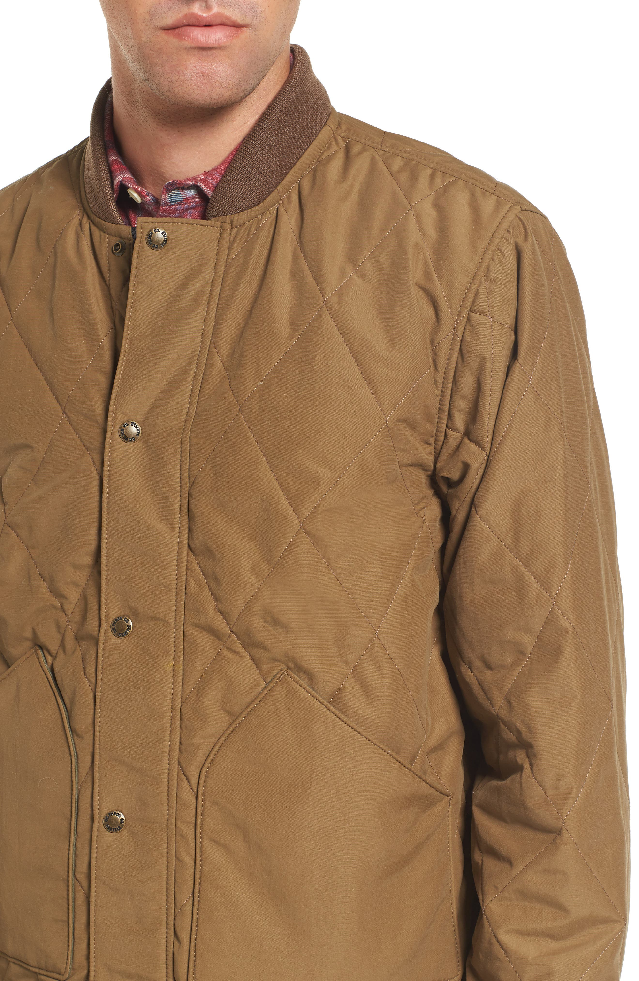 Alternate Image 4  - Filson Quilted Pack Water-Resistant Jacket