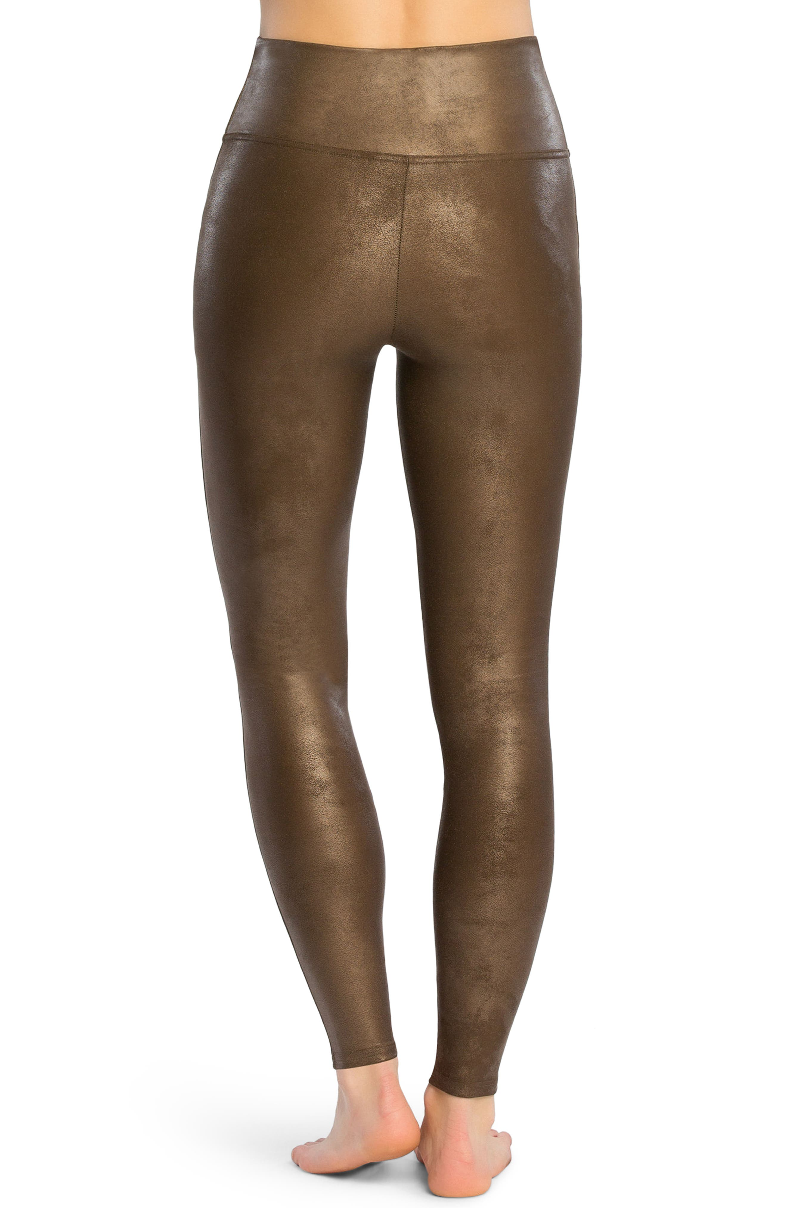 Alternate Image 2  - SPANX® Faux Leather Leggings
