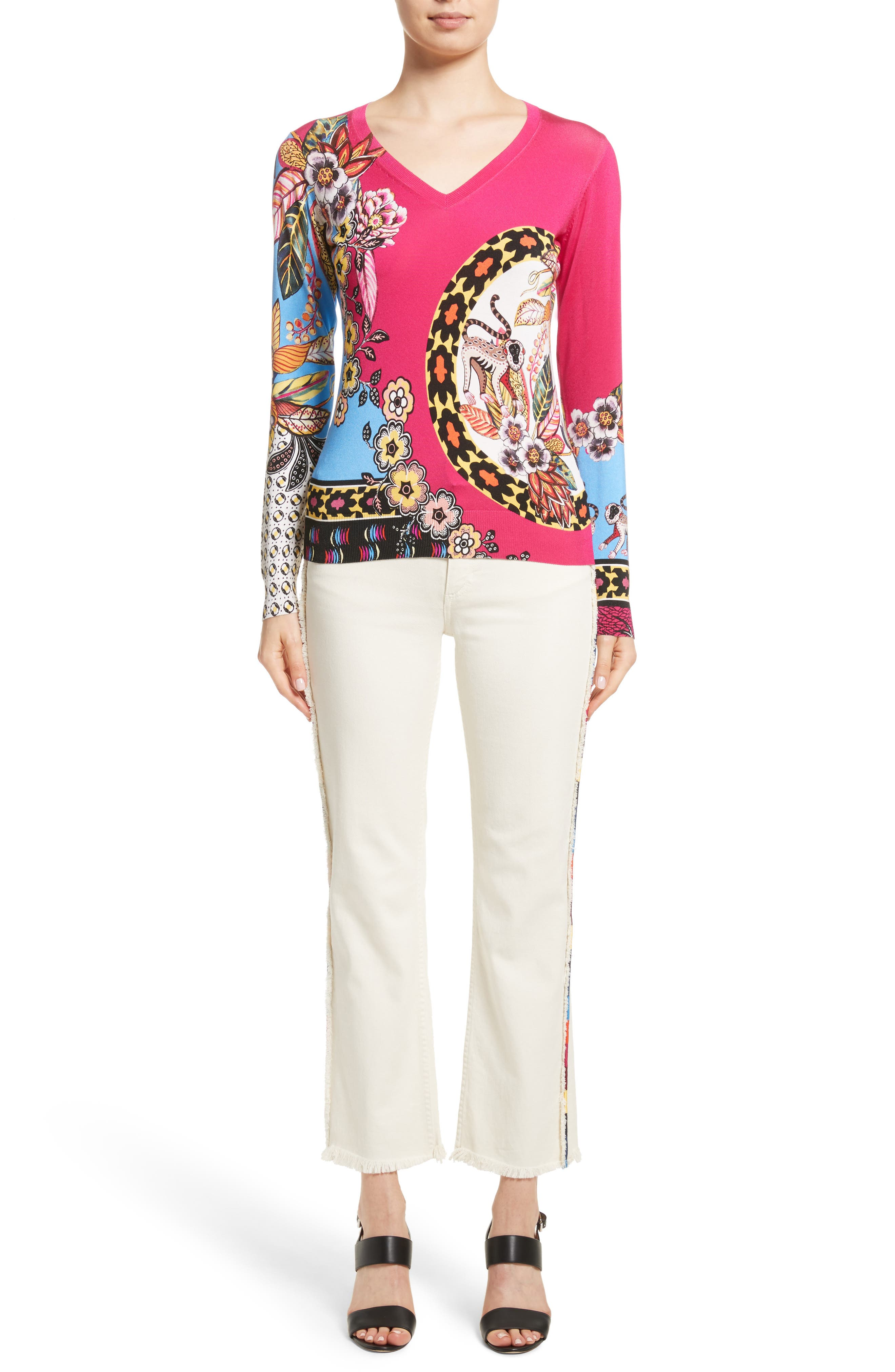 Alternate Image 11  - Etro Embroidered Piping Crop Jeans